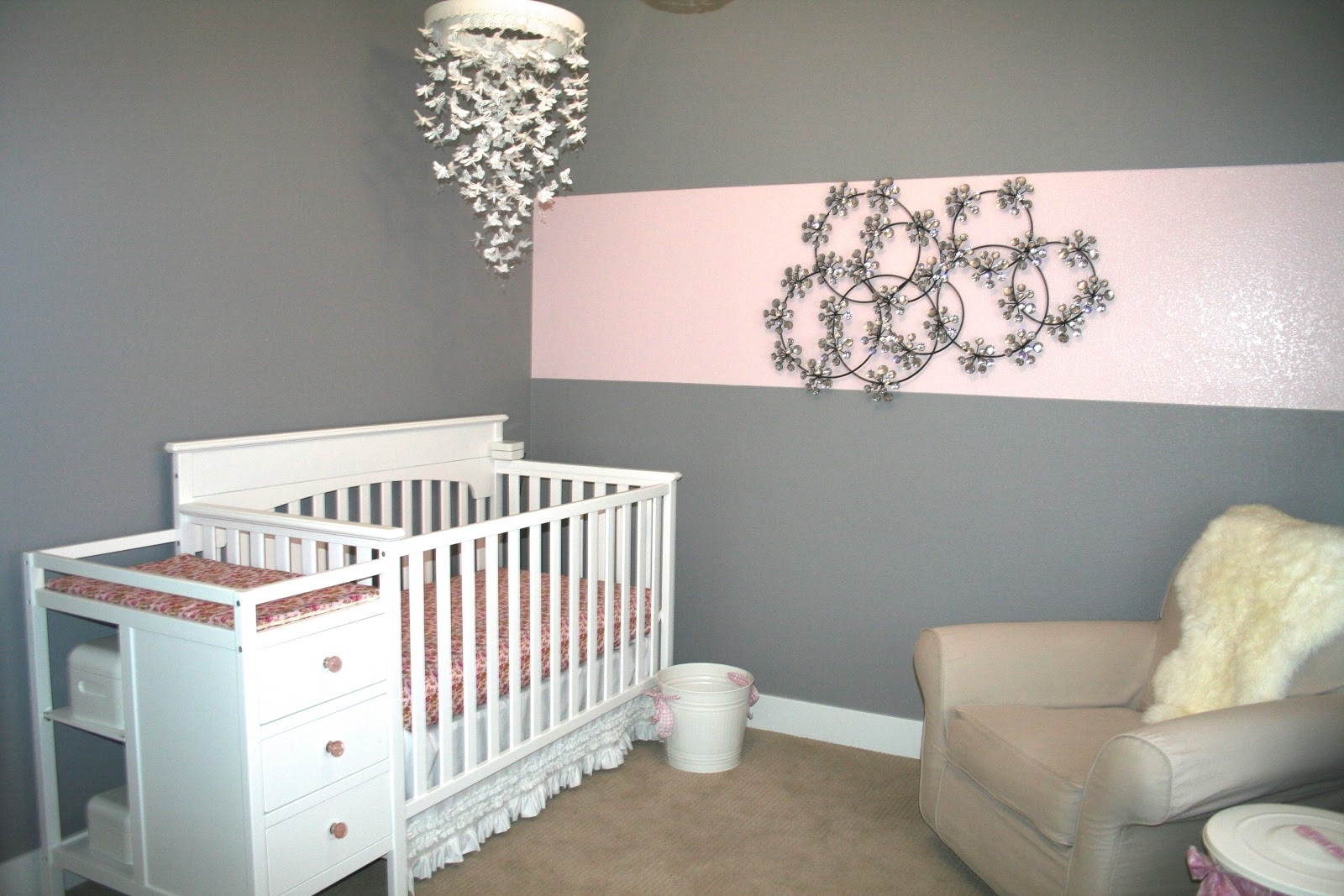 Baby Nursery Decor: Mirror Chandeliers For Baby Girl Nursery Hanging With Latest Cheap Chandeliers For Baby Girl Room (View 15 of 15)