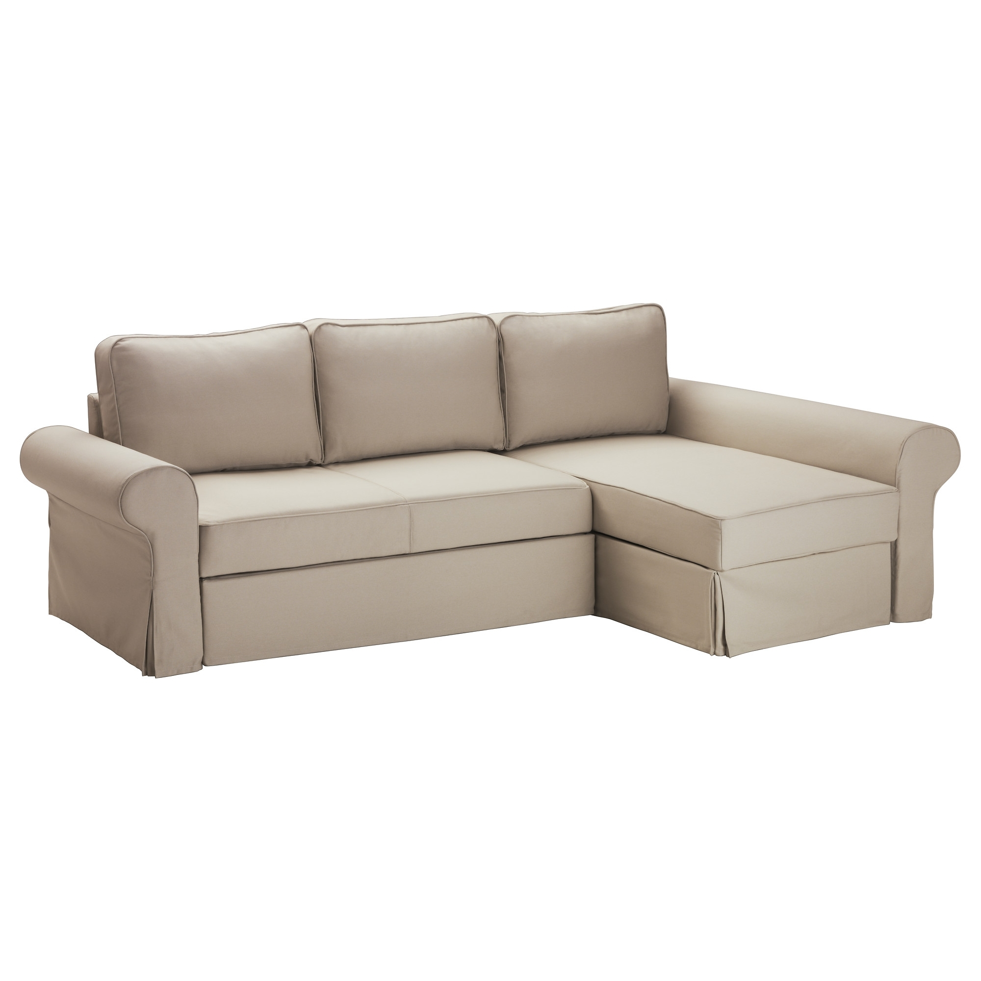 Backabro Sofa Bed With Chaise Longue – Tygelsjö Beige – Ikea Throughout Preferred Chaise Lounge Sofa Beds (View 2 of 15)