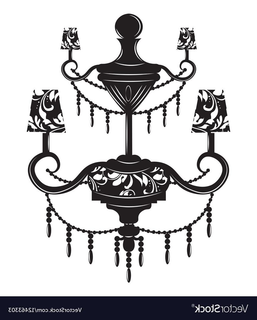 Baroque Chandelier Regarding 2018 Classic Baroque Chandelier Royalty Free Vector Image (View 1 of 15)