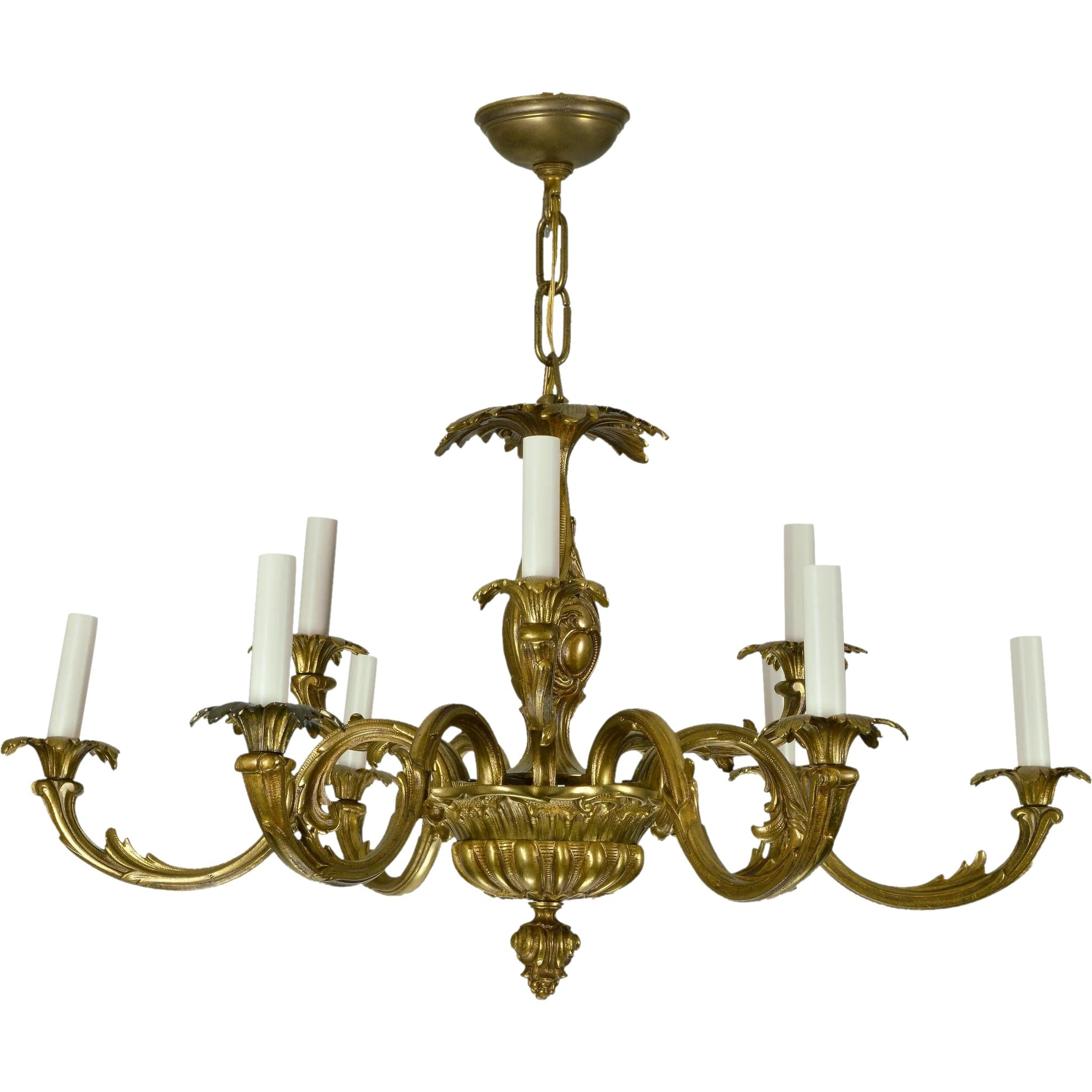 Baroque Chandelier With Regard To 2018 Vintage Brass French Baroque Chandelier : The Old Light Warehouse (View 11 of 15)
