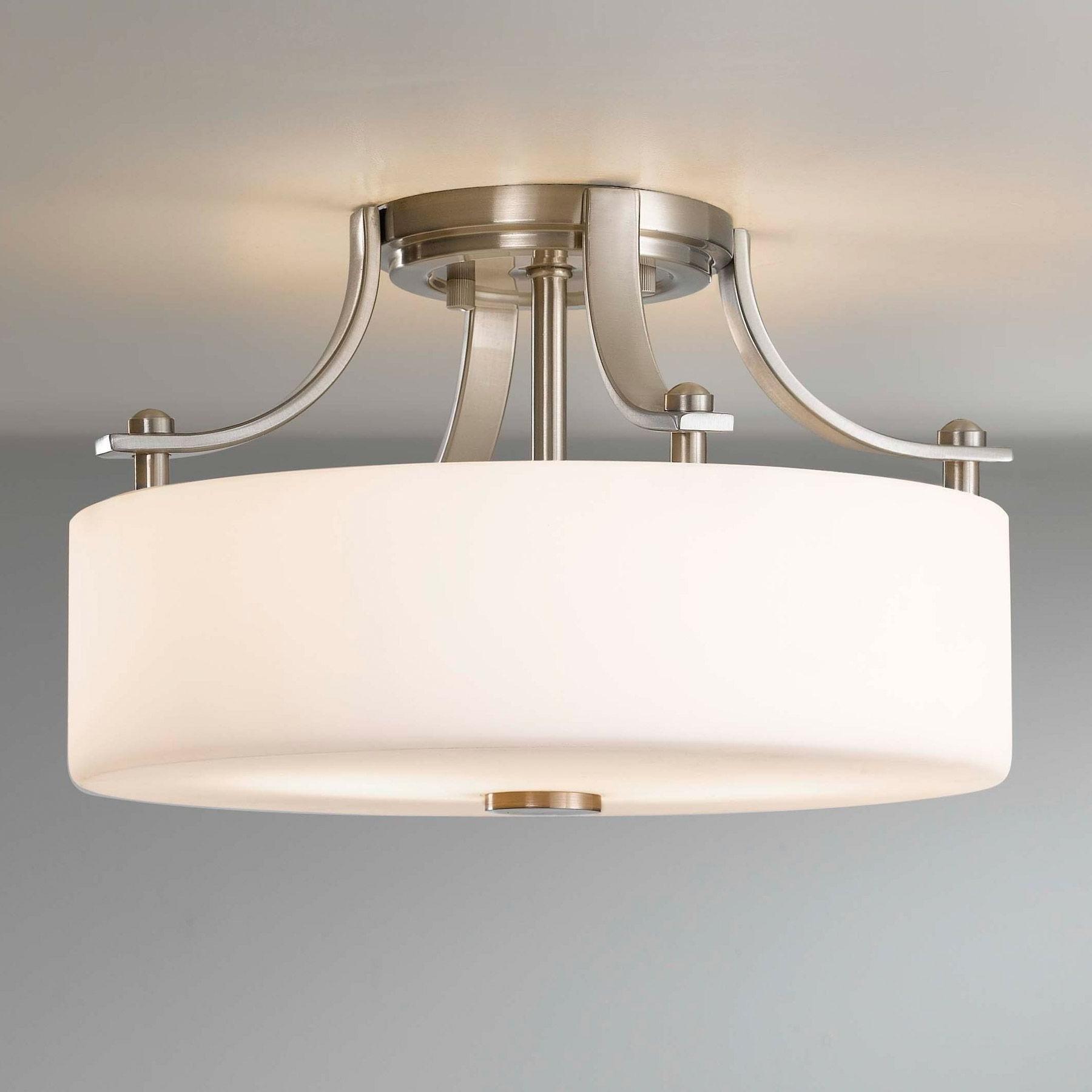 Bathroom Ceiling Light Fixture – Inspirational White Flushmount Regarding Popular Chandelier Bathroom Ceiling Lights (View 6 of 15)
