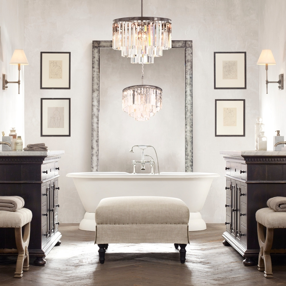 Bathroom Lighting Chandelier Ideas Chrome In Small (View 7 of 15)