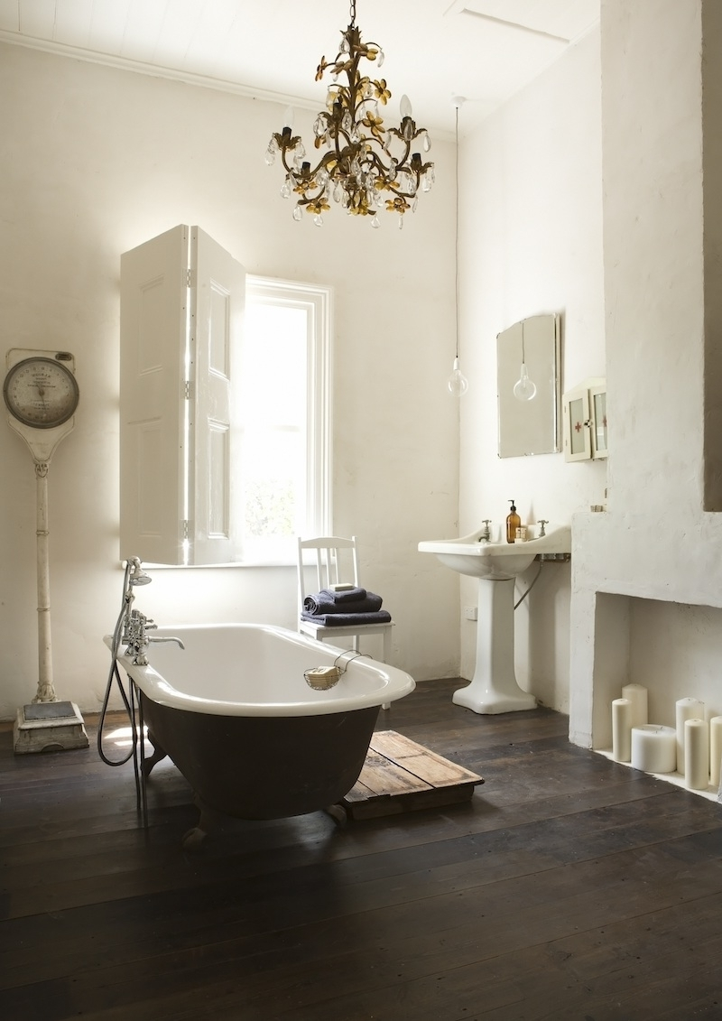 Bathroom Lighting With Matching Chandeliers Regarding Preferred 21 Ideas To Decorate Lamps & Chandelier In Bathroom (View 6 of 15)