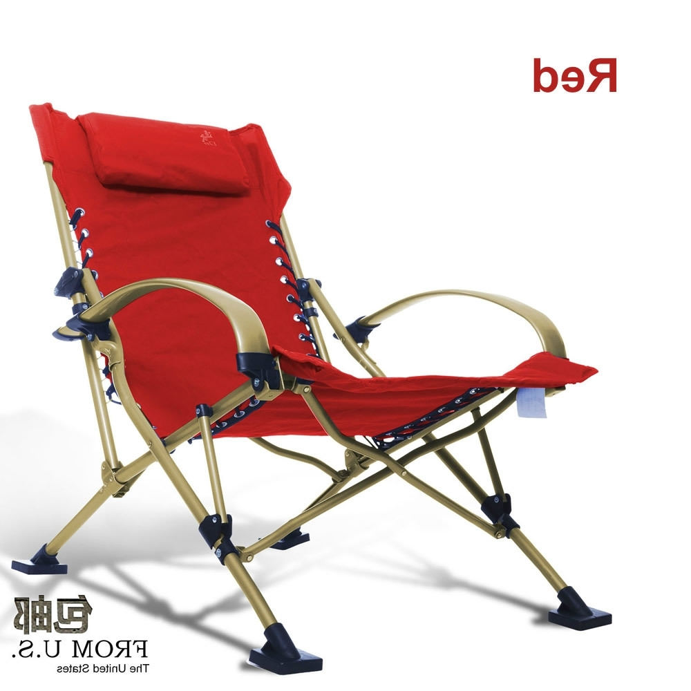 Beach Chaises With Regard To Trendy Beach Chair Folding Foldable Outdoor Picnic Camping Sunbath Living (View 13 of 15)