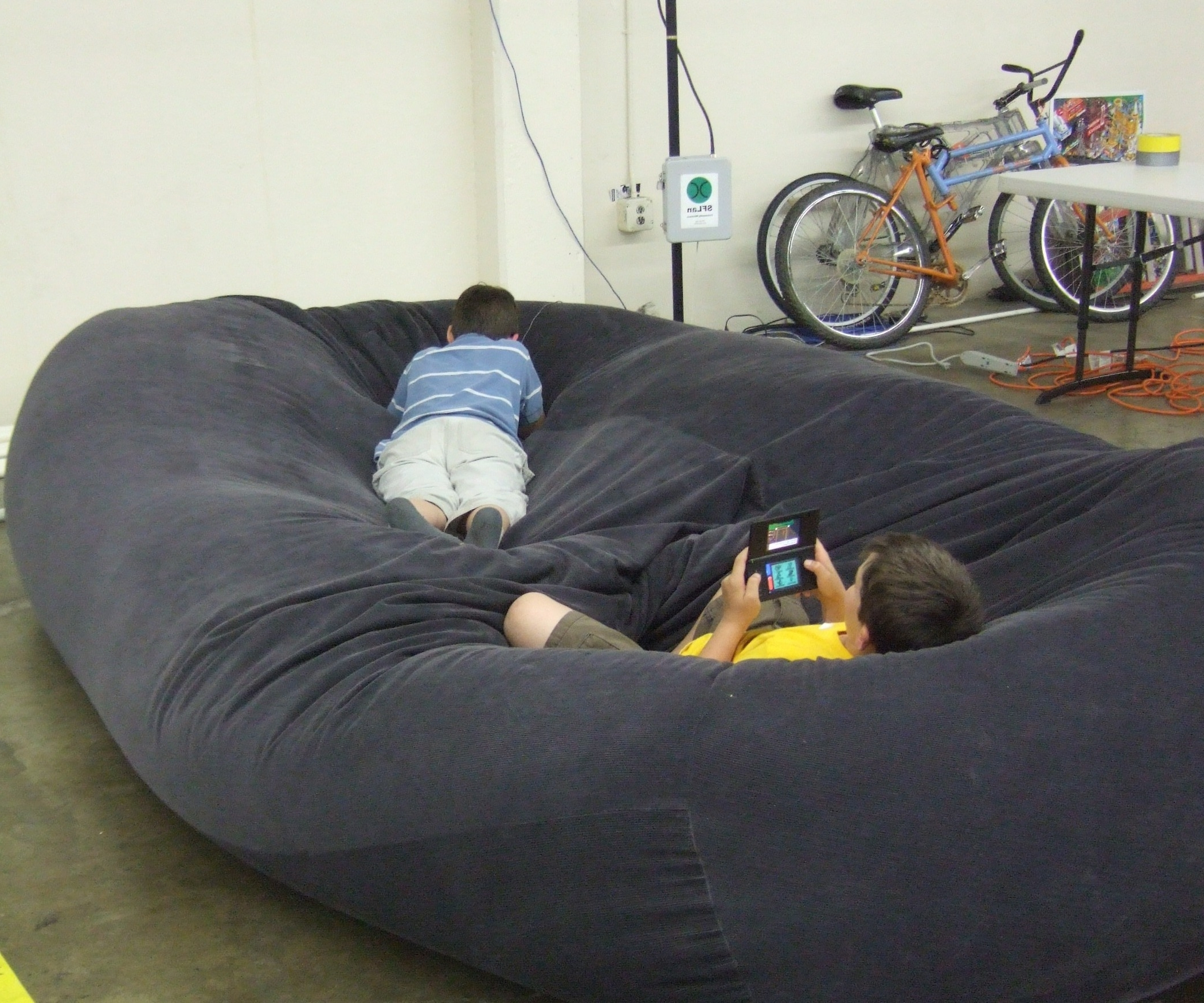 Bean Bag Sofa / Bed: 8 Steps (With Pictures) Intended For Trendy Bean Bag Sofas And Chairs (View 8 of 15)