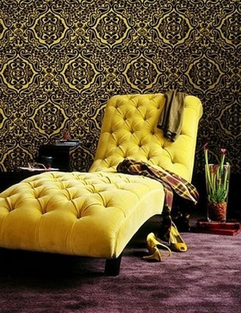 Bedroom Chaise Lounge In 12 Gorgeous Designs – Rilane In Current Yellow Chaise Lounges (View 6 of 15)