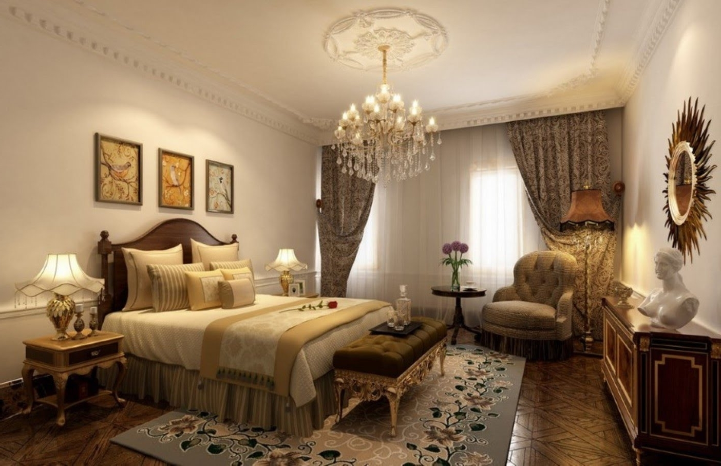 Bedroom Chandeliers With Regard To Fashionable Chandelier (View 3 of 15)