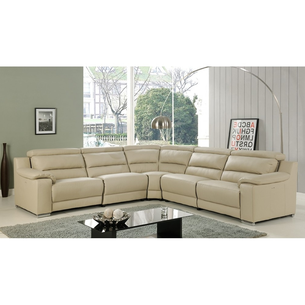 Beige, At Home Usa Inside Recent Leather Recliner Sectional Sofas (View 9 of 15)