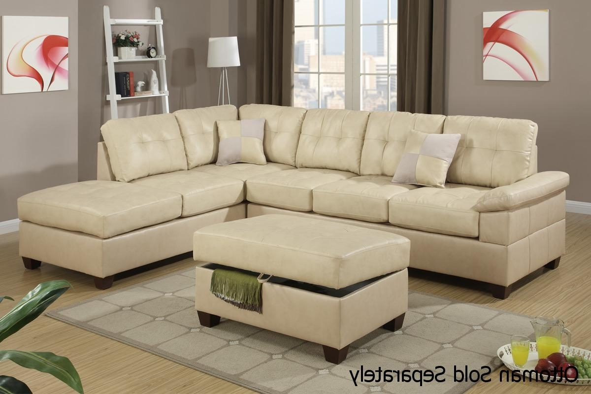 Beige Sectional Sofas Throughout Fashionable Beige Leather Sectional Sofa – Steal A Sofa Furniture Outlet Los (View 5 of 15)