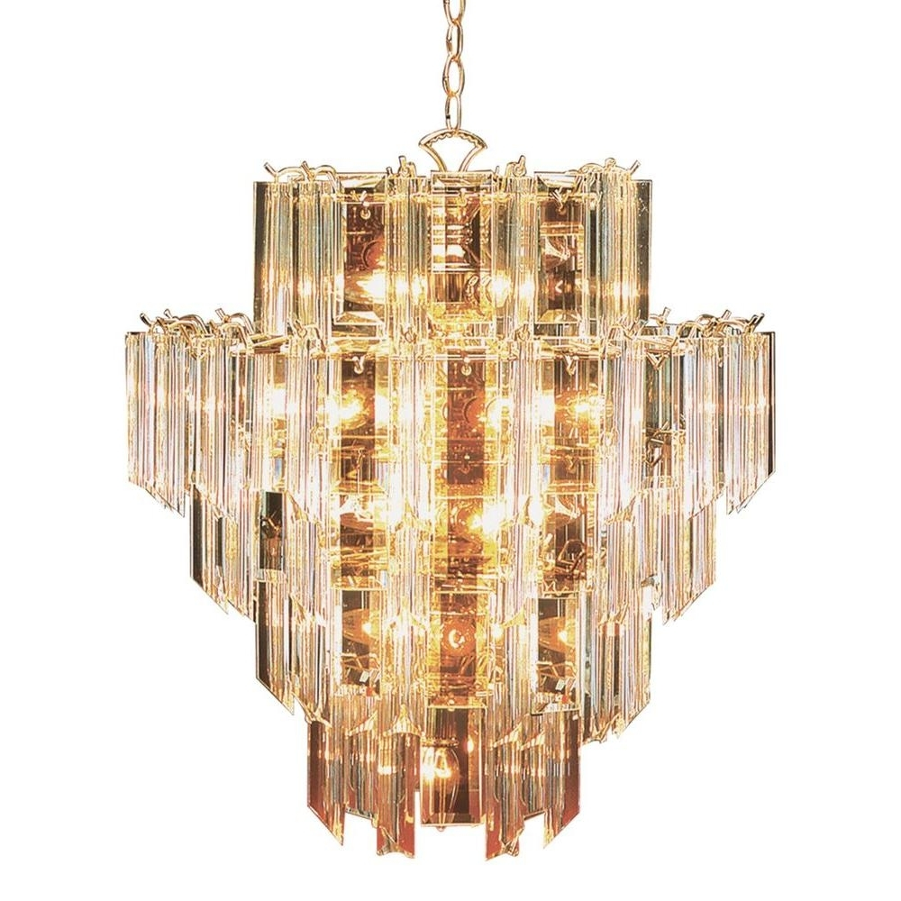 Bel Air Lighting Stewart 16 Light Bronze Chandelier With Beveled Throughout Recent Acrylic Chandelier Lighting (View 1 of 15)