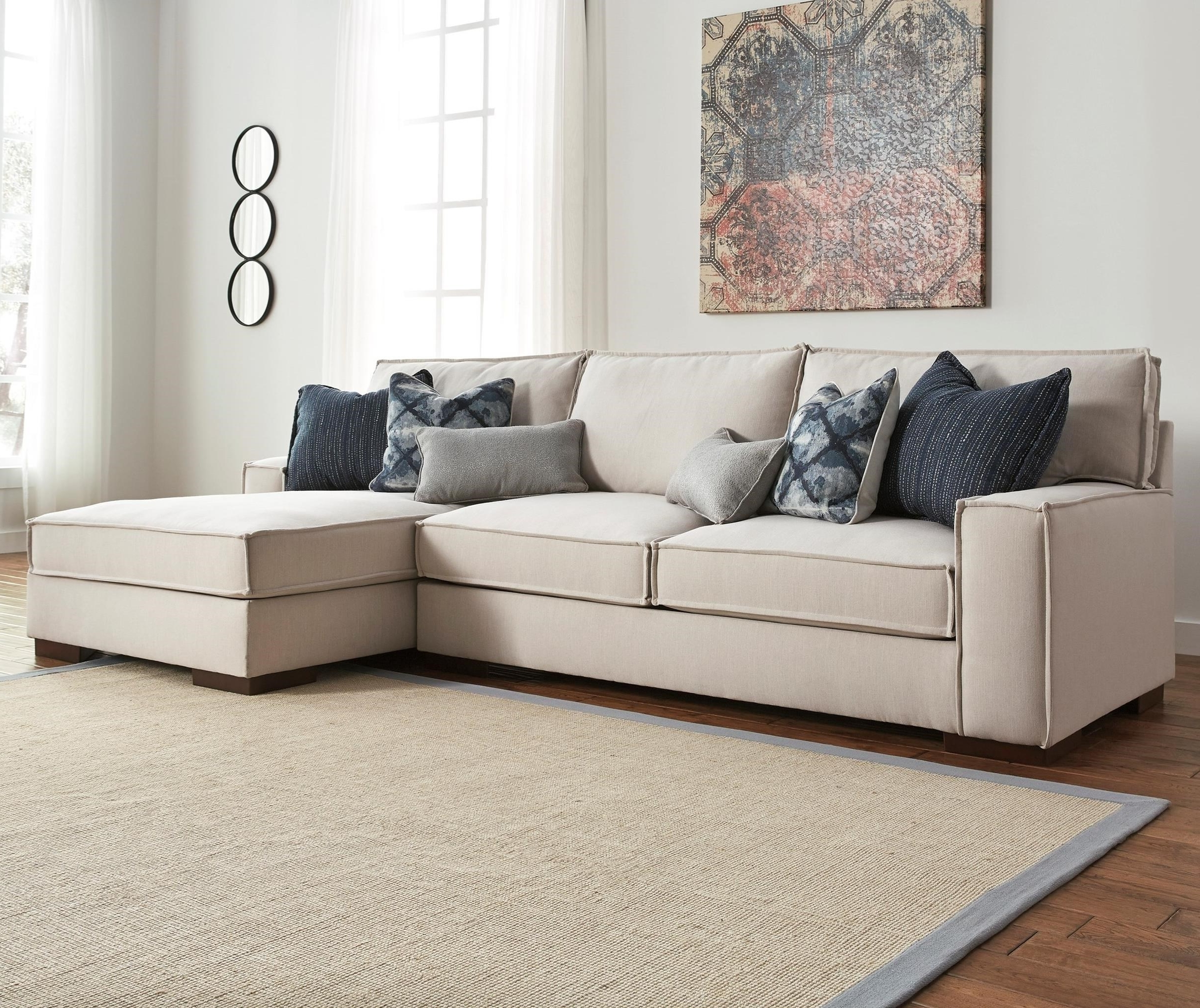 Benchcraft Kendleton Modern 2 Piece Sectional With Right Chaise With Regard To 2018 2 Piece Sectionals With Chaise (View 5 of 15)