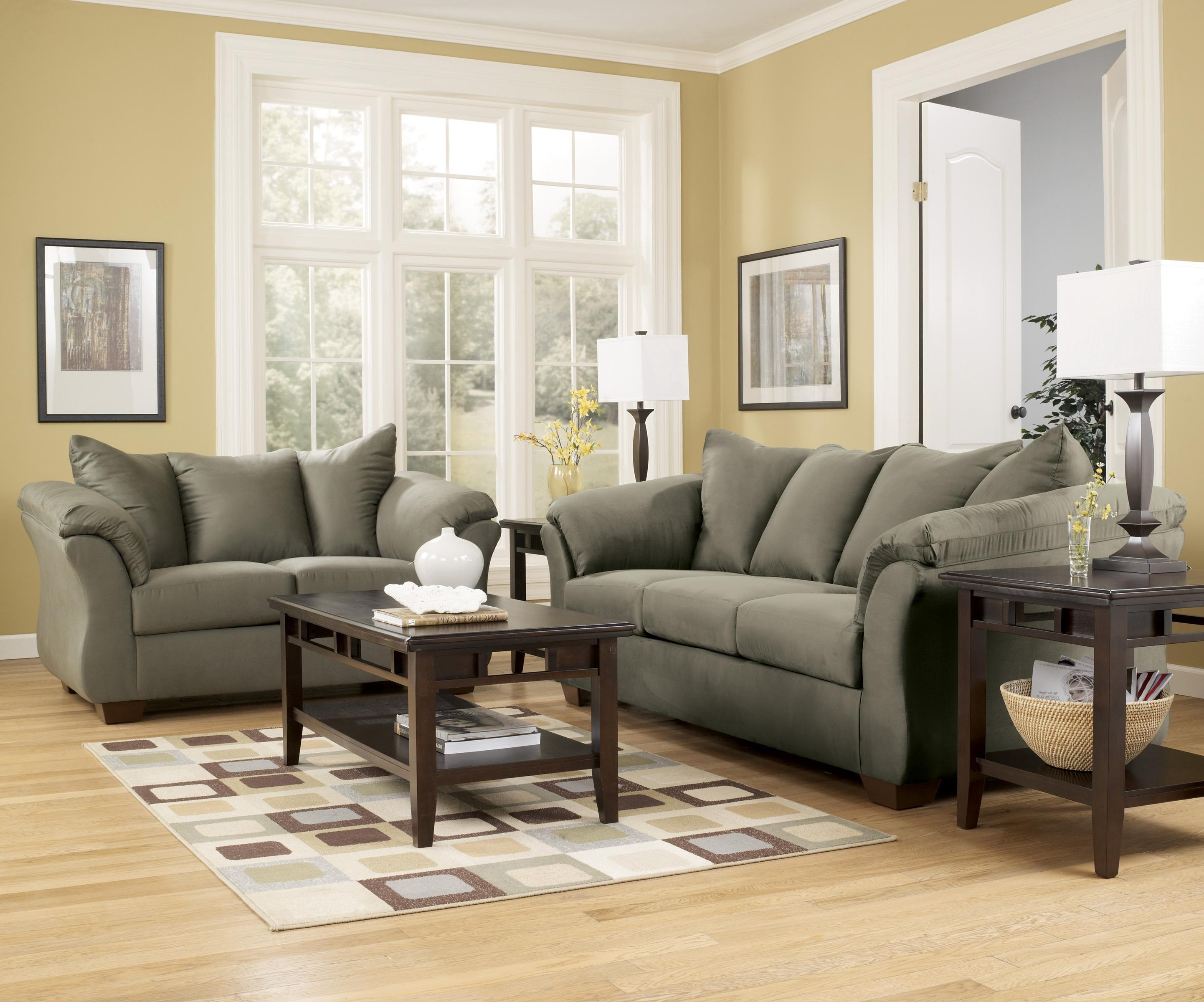 Best And Newest 102X102 Sectional Sofas In Signature Designashley Darcy – Sage Contemporary Sectional (View 12 of 15)
