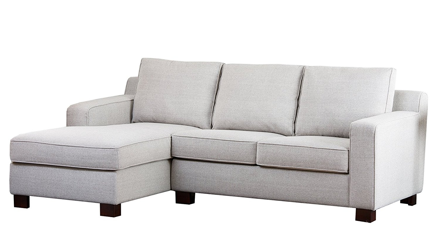 Best And Newest Amazon: Abbyson Regina Fabric Sectional Sofa, Grey: Home & Kitchen Within Regina Sectional Sofas (View 3 of 15)