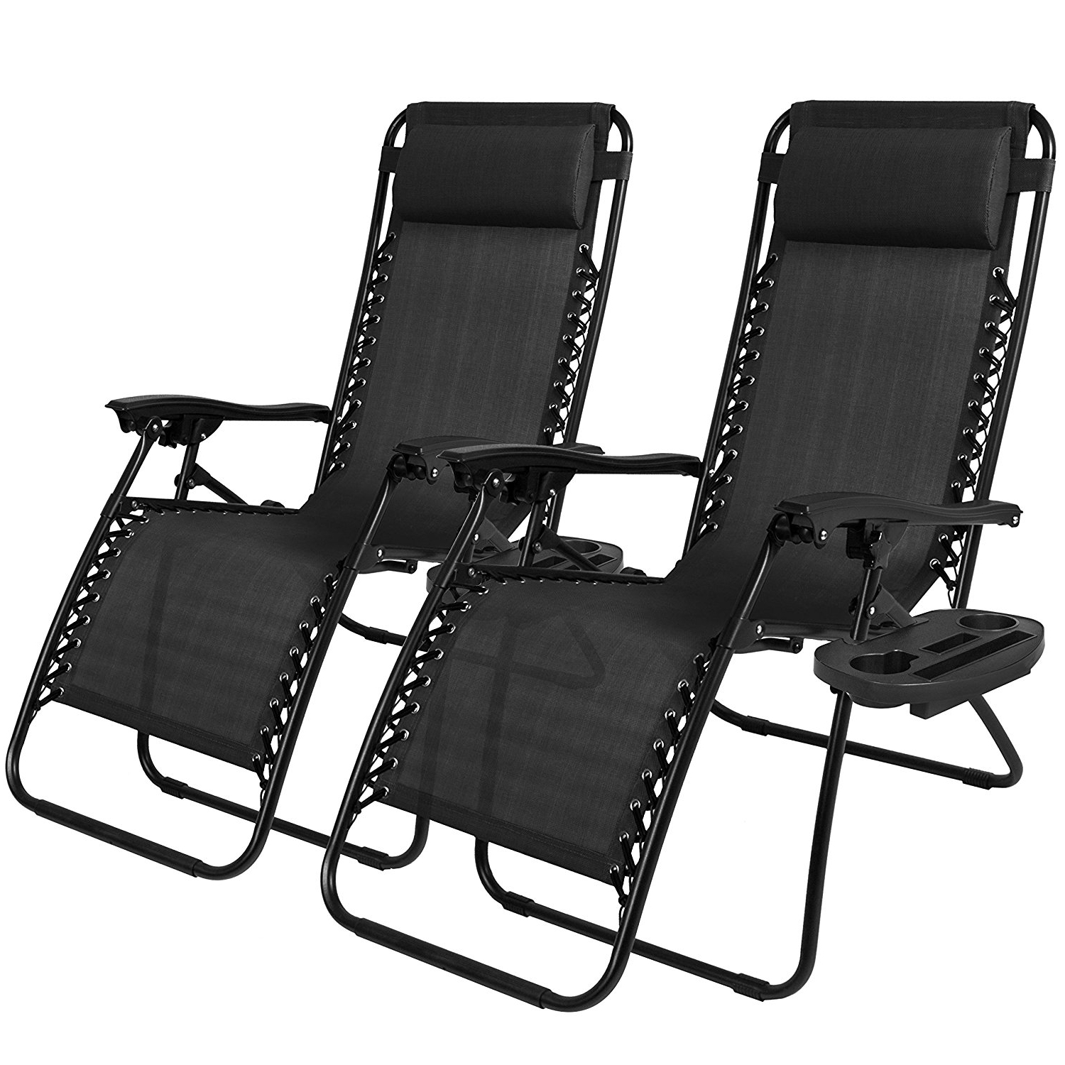 Best And Newest Amazon : Best Choice Products Zero Gravity Chairs Case Of (2 Inside Zero Gravity Chaise Lounge Chairs (View 4 of 15)