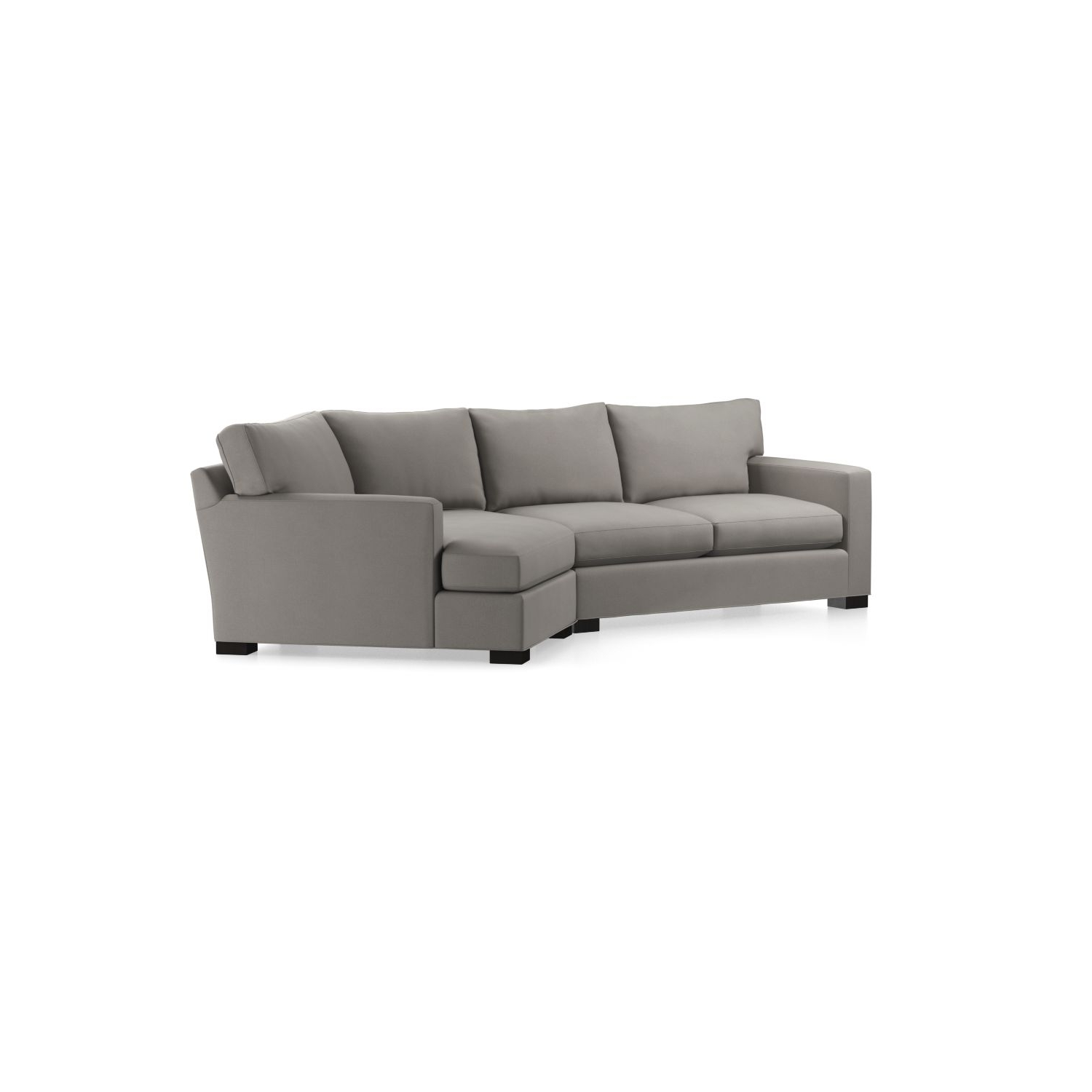 Best And Newest Angled Chaise Sofas Inside Axis Ii 2 Piece Right Arm Angled Chaise Sectional Sofa In Axis (View 5 of 15)
