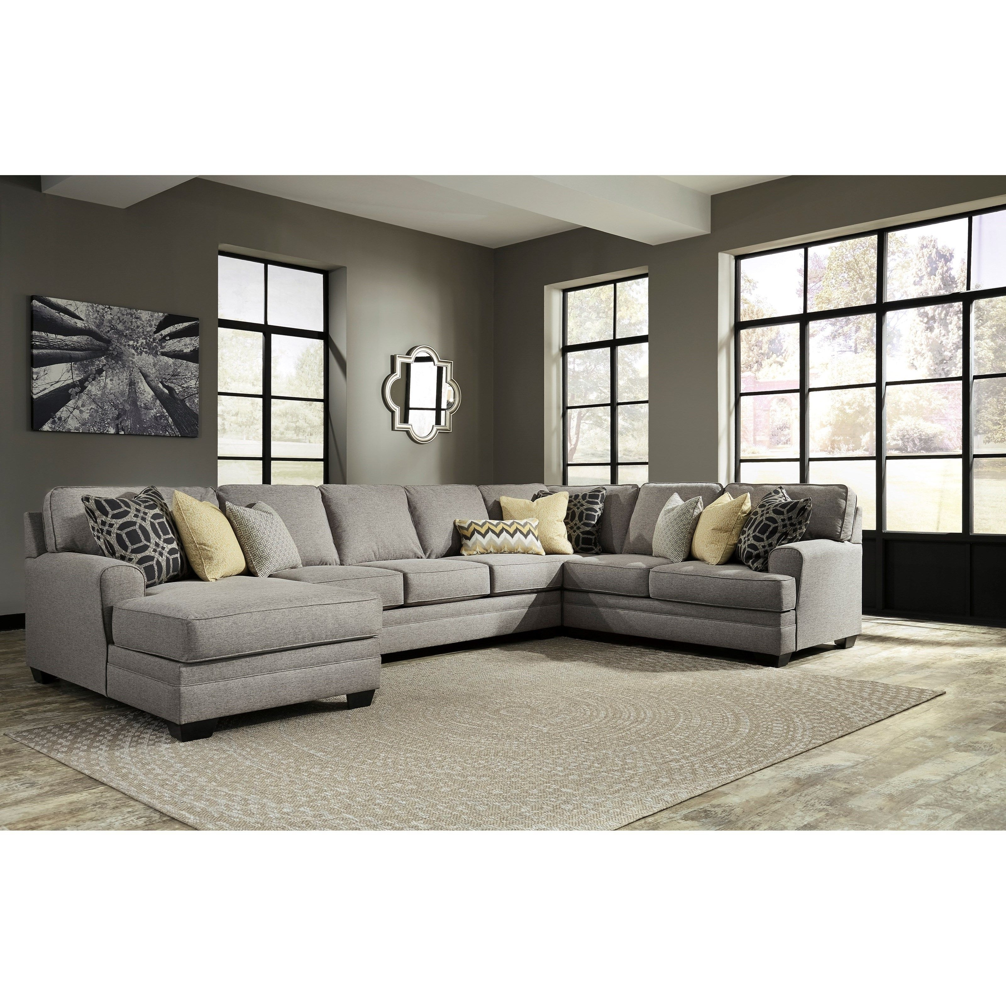 Best And Newest Armless Sectional Sofas In Contemporary 4 Piece Sectional With Chaise & Armless Sofa (View 3 of 15)