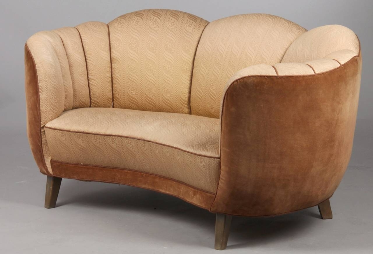Best And Newest Art Deco Sofas With Regard To Art Deco Curved Sofa At 1Stdibs (View 5 of 15)
