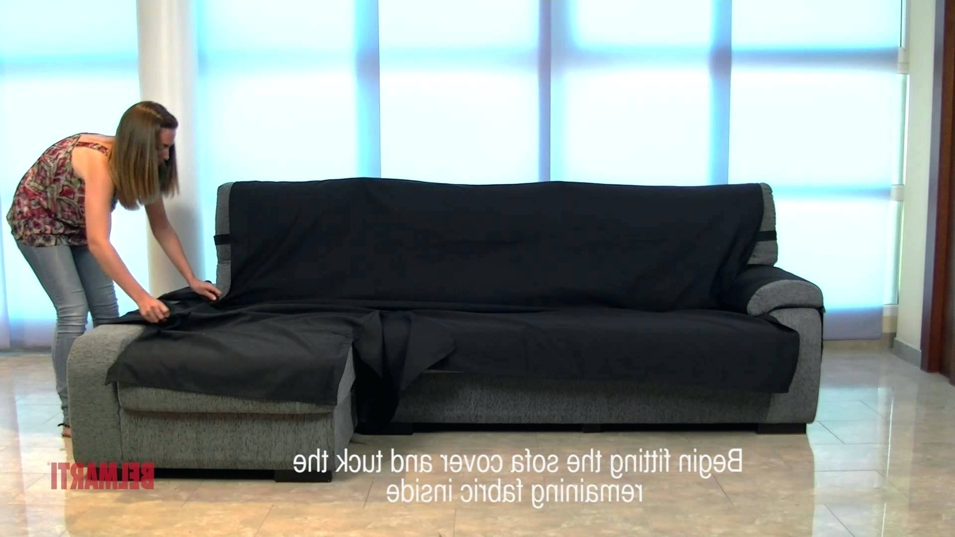Best And Newest Chaise : Couch With Chaise Cover Sofa Slipcover Lounge Chair For Chaise Couch Covers (View 2 of 15)