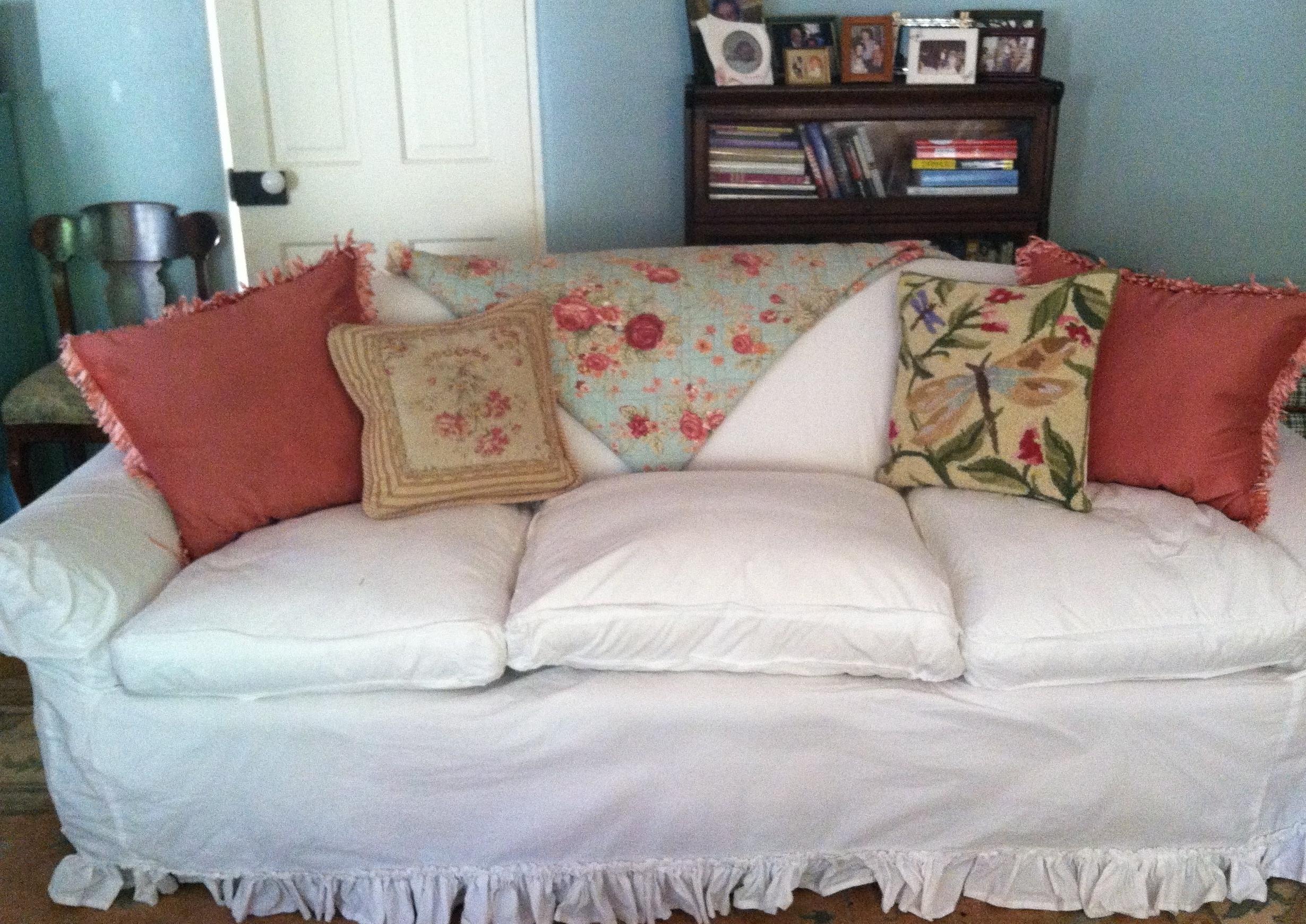 Best And Newest Chintz Floral Sofas With Old Sofa? – Give It The Slip (View 3 of 15)