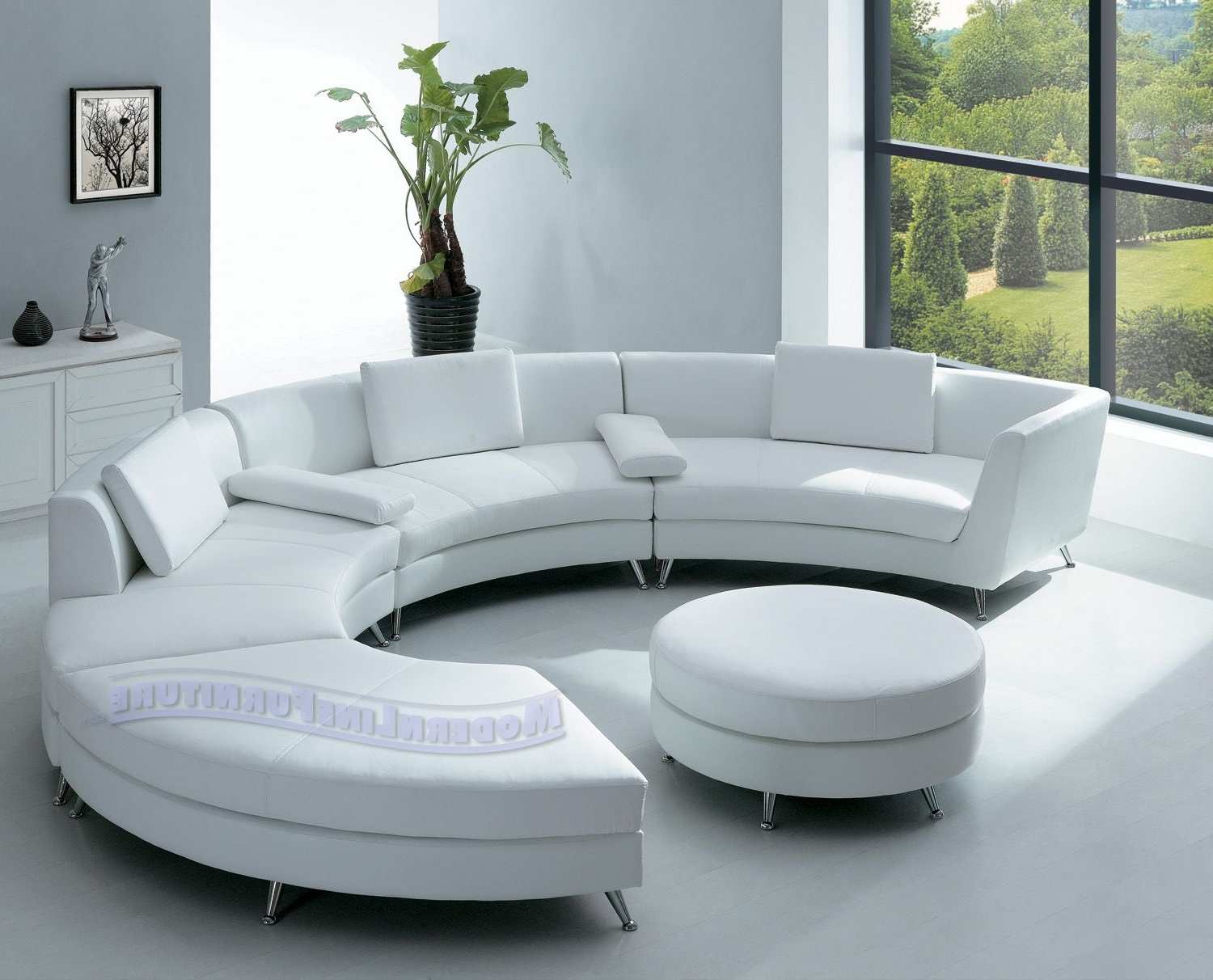 Best And Newest Contemporary Sofa Chairs For Room Furniture With Elegant Half Circle Sofa Home Interior Designs (View 2 of 15)