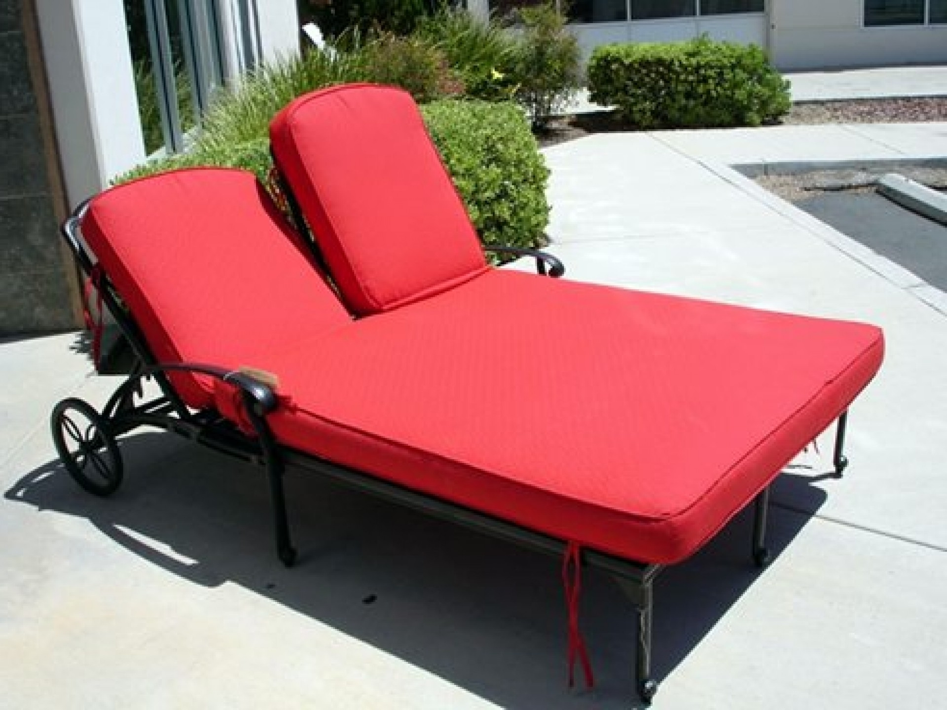 Best And Newest Convertible Chair : Patio Seat Covers Outdoor Patio Bench Cushions Intended For Patio Double Chaise Lounges (View 5 of 15)