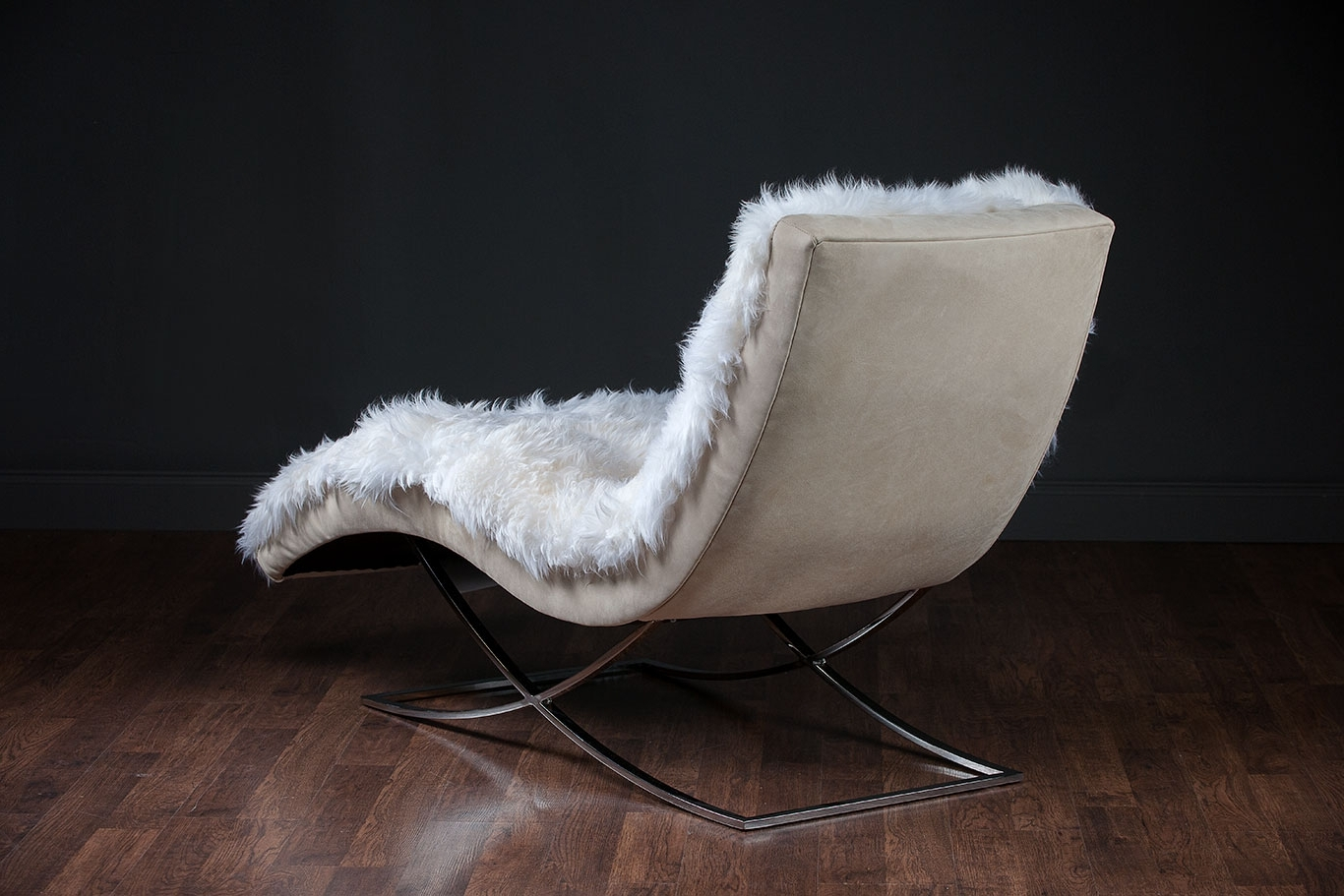Best And Newest Curved Chaises Intended For Sicily Curved Sheepskin Chaise – Mecox Gardens (View 6 of 15)