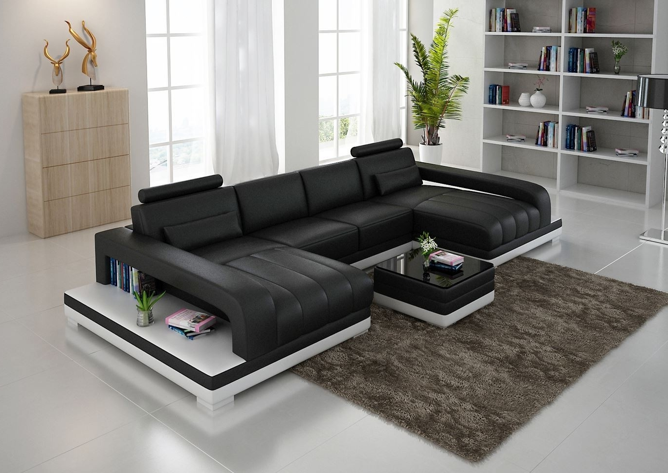 Best And Newest Double Chaise Sectional Sofas: Type And Finishing (View 2 of 15)