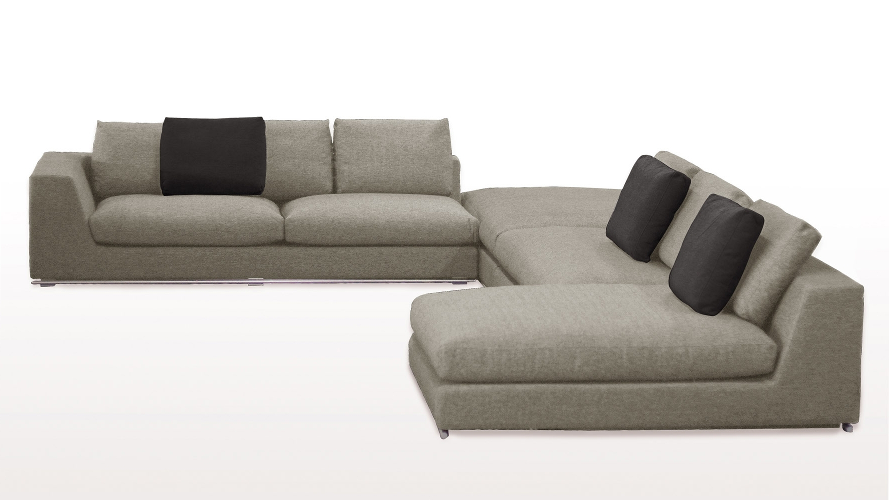 Best And Newest Fancy Armless Sectional Sofa 53 On Sofa Room Ideas With Armless Within Armless Sectional Sofas (View 1 of 15)