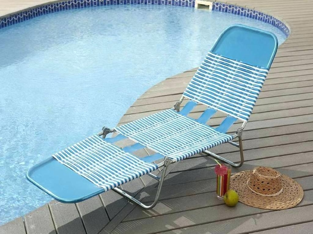 Best And Newest Foldable Chaise Lounges With Regard To Uncategorized : Folding Chaise Lounge Chair In Trendy Luxury Beach (View 8 of 15)