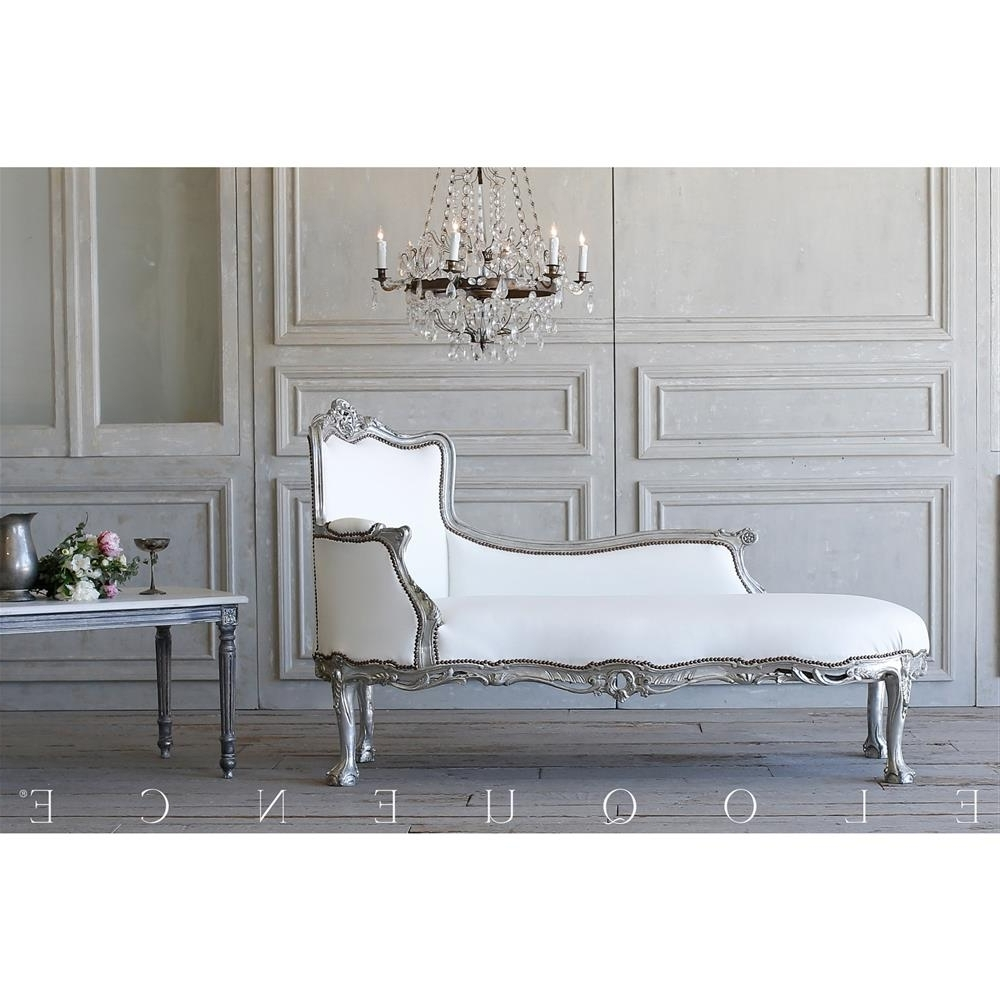 Best And Newest French Country Chaise Lounges Within French Country Style Eloquence® Vintage Chaise Lounge:  (View 12 of 15)