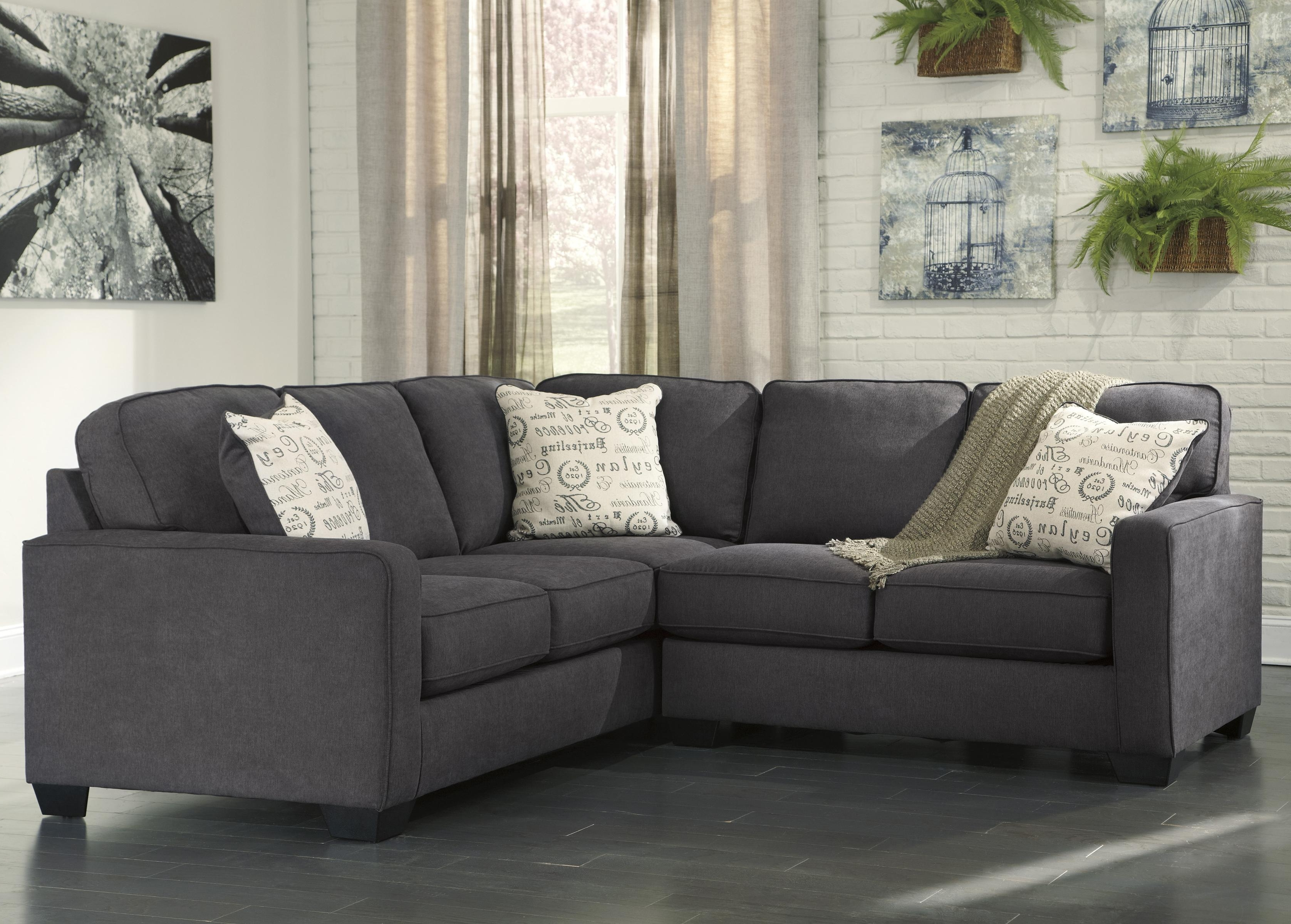Best And Newest Green Bay Wi Sectional Sofas Intended For Signature Designashley Alenya – Charcoal 2 Piece Sectional (View 3 of 15)