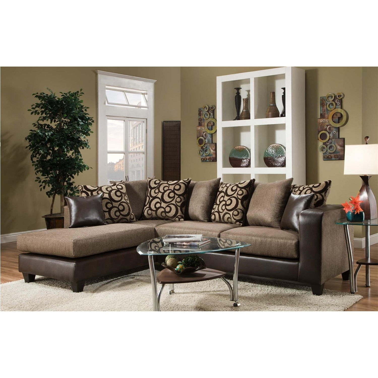 Best And Newest Home Furniture Sectional Sofas For Chelsea Home Furniture 424124 Ame Sectional – Homeclick (View 3 of 15)