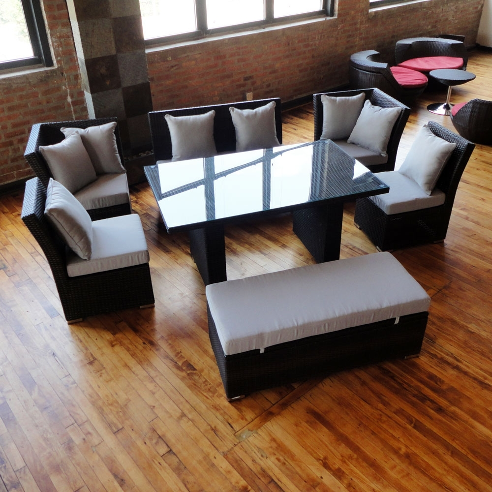 Best And Newest Jamaica Sectional Sofas With Regard To Unique Dining Set To Sectional Sofa Now Available In Black Wicker (View 9 of 15)