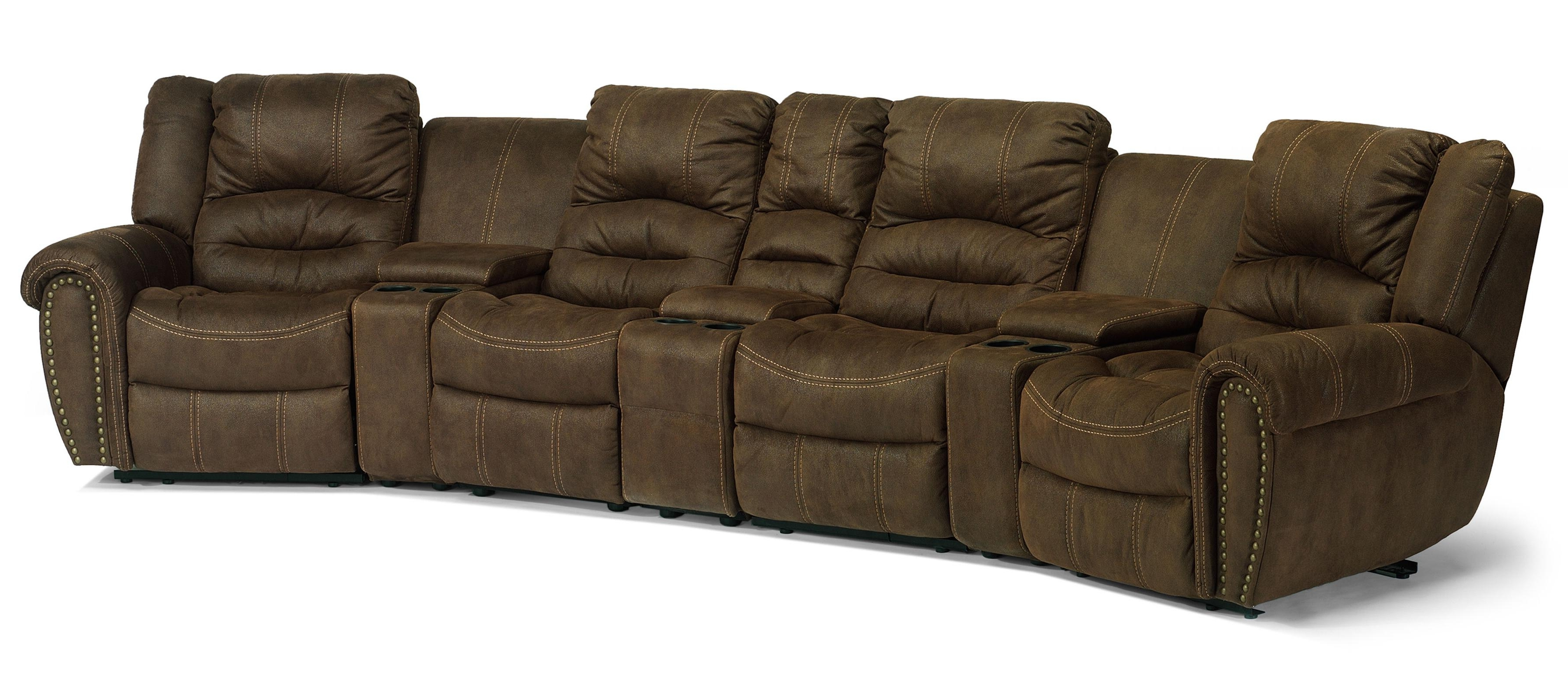 Best And Newest Kansas City Sectional Sofas With Flexsteel Latitudes – New Town Curved Reclining Sectional Sofa (View 11 of 15)