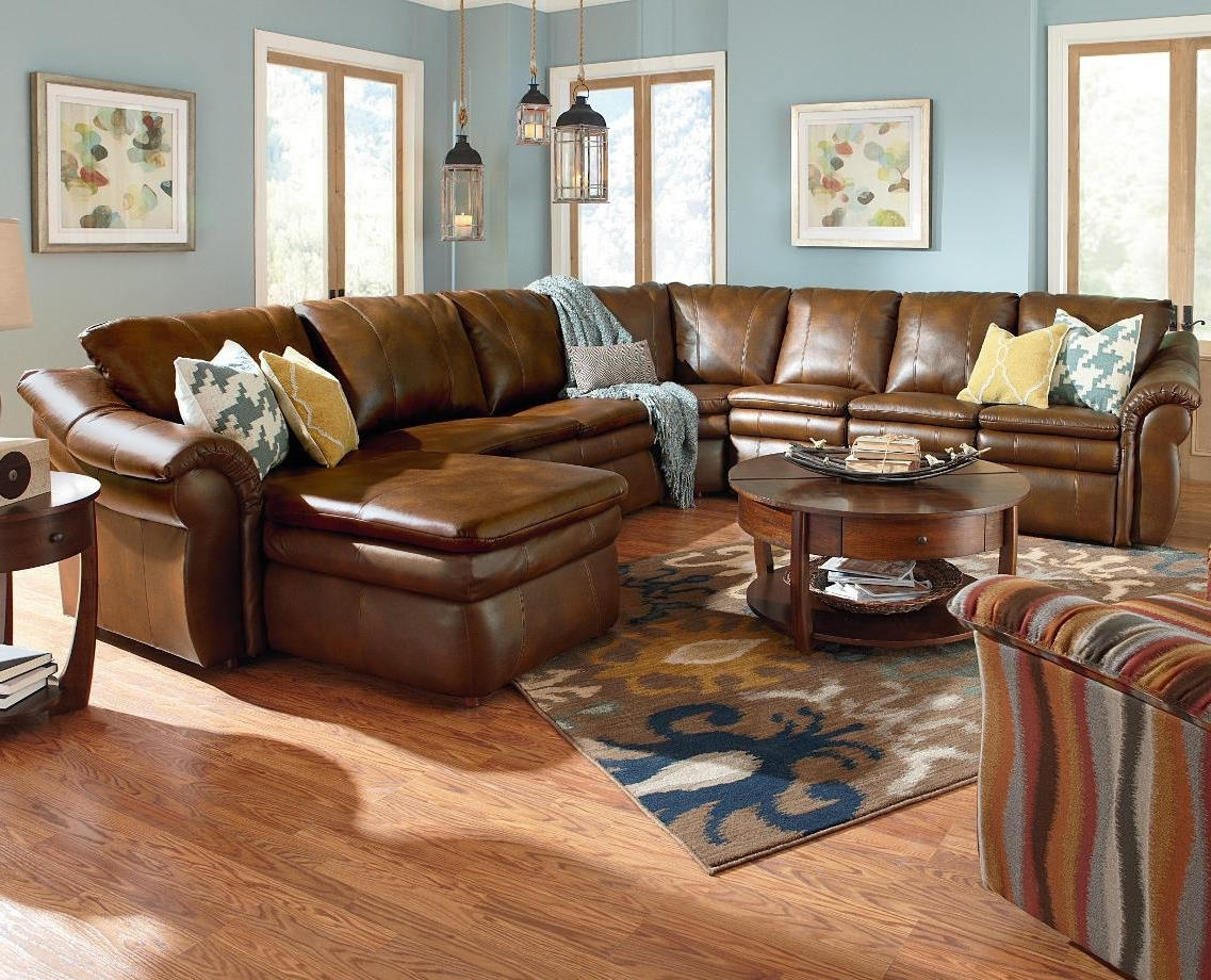 Best And Newest Lazy Boy Chaises With Regard To 5 Piece Sectional With Las Chaise And 2 Reclinersla Z Boy (View 13 of 15)