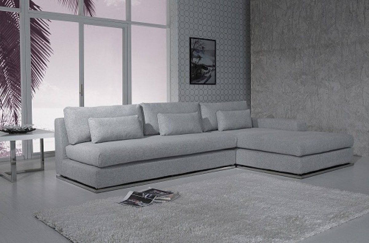 Best And Newest Light Grey Sectional Sofas In Ash Modern Fabric Sectional Sofa (View 1 of 15)