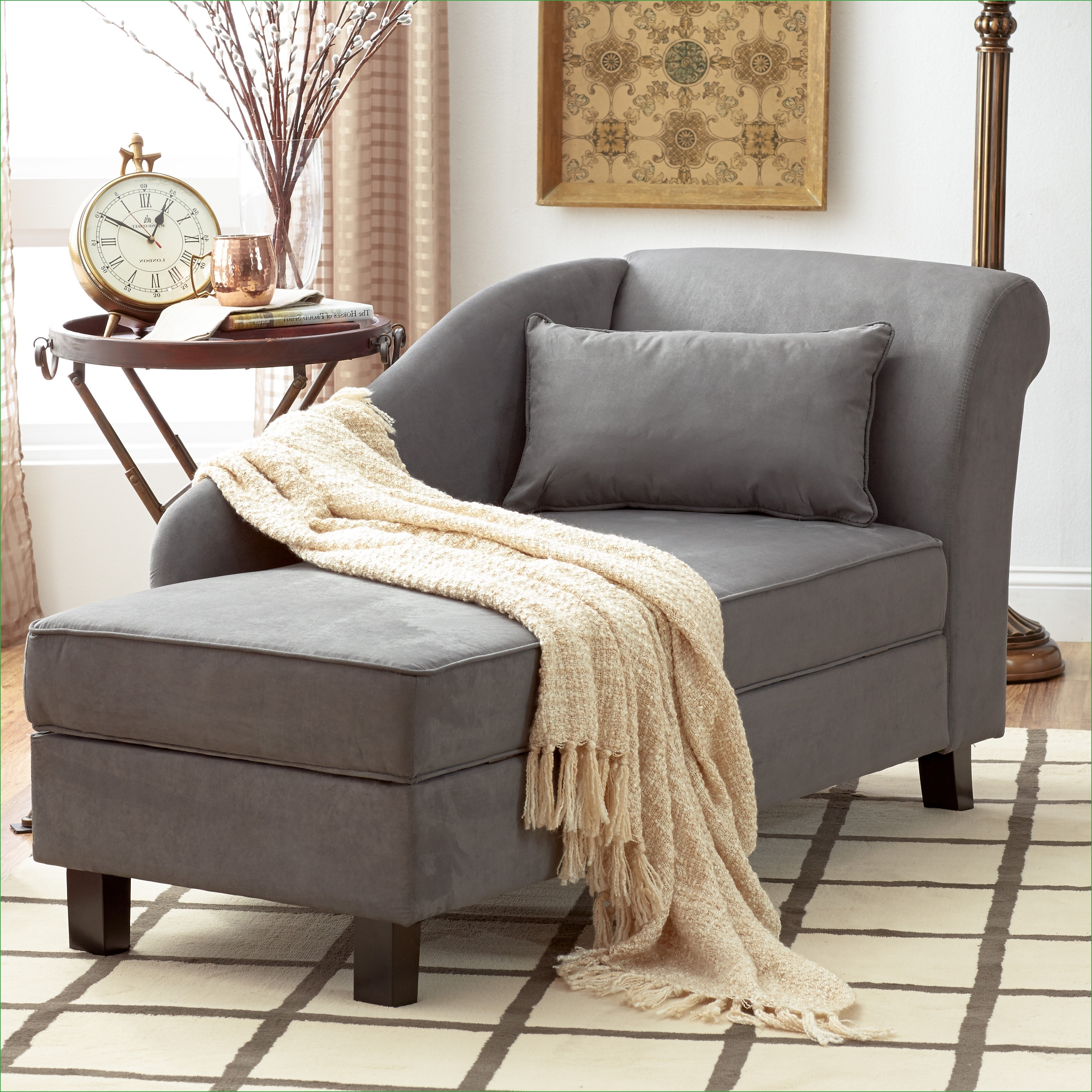 Featured Photo of Chaise Lounge Chairs For Small Spaces