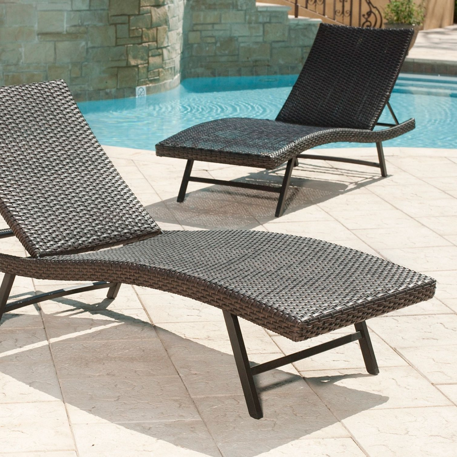 Best And Newest Lounge Chair : Furniture Outdoor Double Chaise Outdoor Pool Chaise Regarding Outdoor Pool Furniture Chaise Lounges (View 10 of 15)