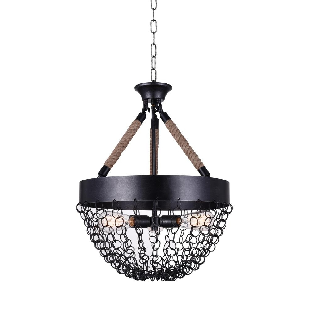 Best And Newest Mackenzie 3 Light Antique Black Chandelier 9963P18 3 207 – The Home Intended For Antique Black Chandelier (View 4 of 15)