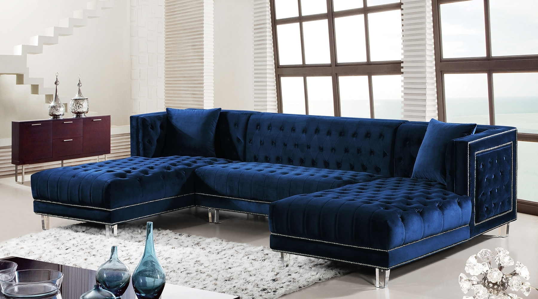 Featured Photo of Blue Sectional Sofas