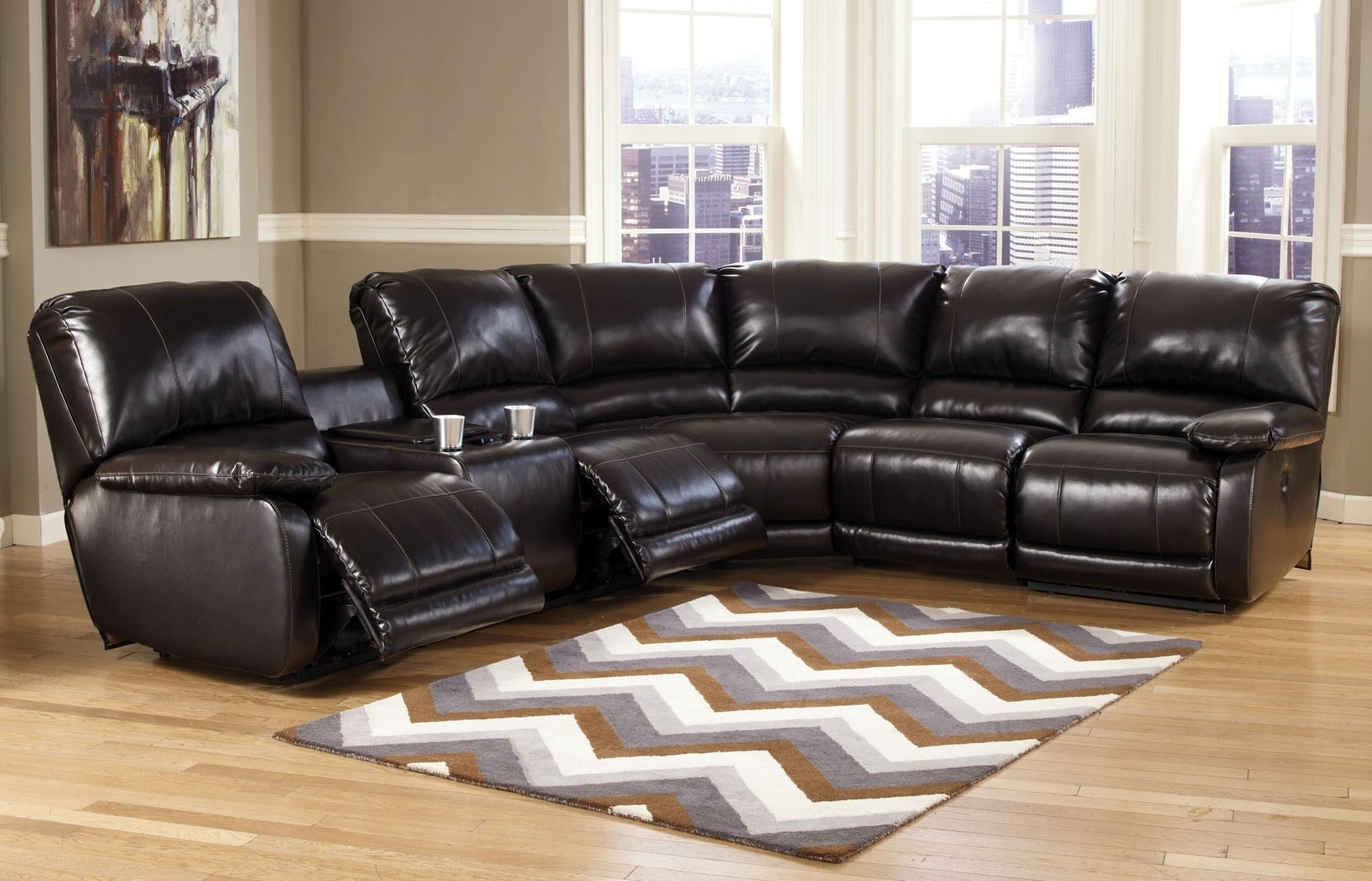Best And Newest Orange County Ca Sectional Sofas With Capote 4 Pc Power Reclining Sectional (View 5 of 15)