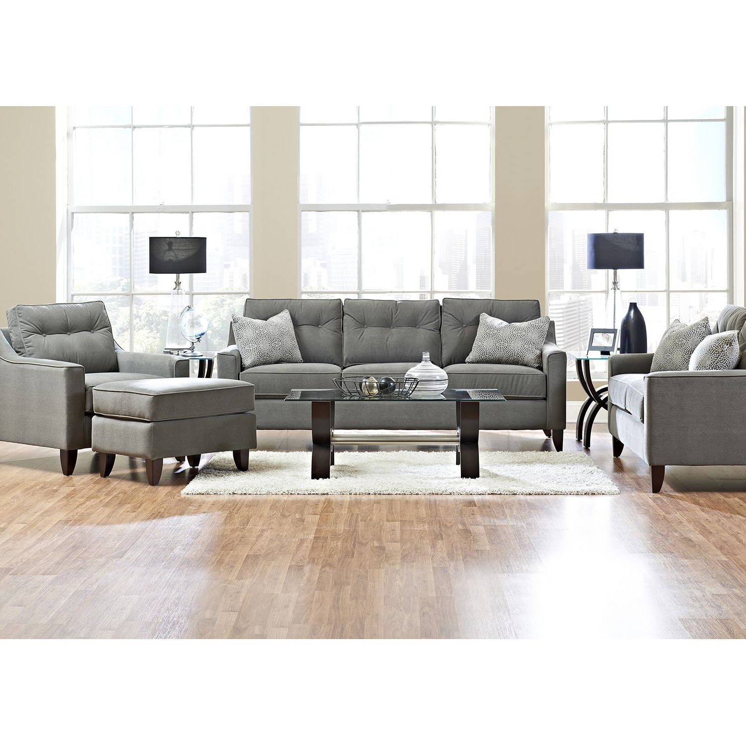 Best And Newest Prestige Aaron Sofa, Loveseat, Chair And Ottoman Collection For Sectional Sofas At Aarons (View 3 of 15)