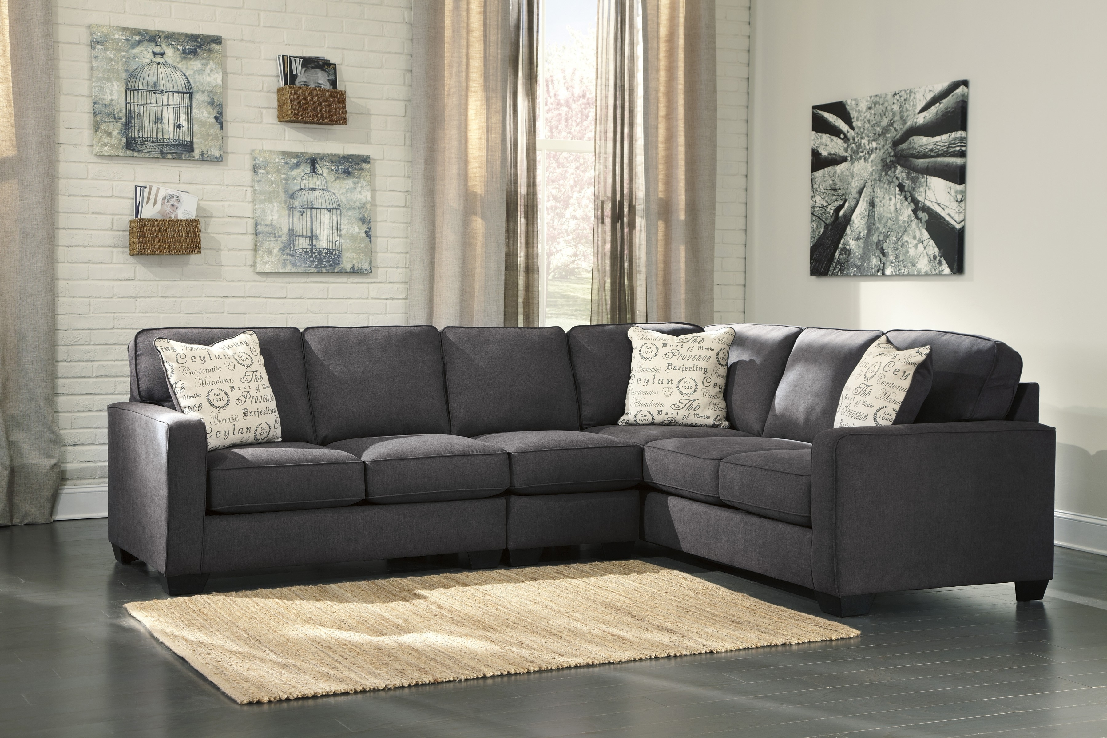Best And Newest Sectional Sofas That Come In Pieces For Alenya Charcoal 3 Piece Sectional Sofa For $ (View 3 of 15)