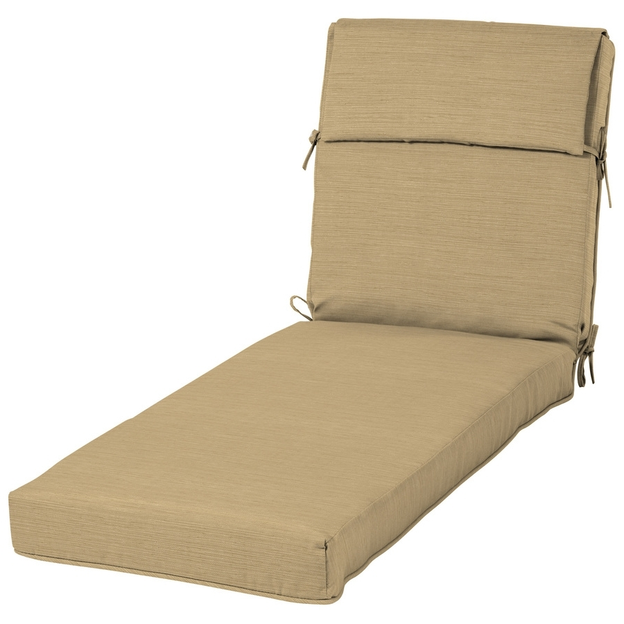 Best And Newest Shop Allen + Roth Neverwet 1 Piece Patio Chaise Lounge Chair For Patio Chaise Lounge Cushions (View 1 of 15)