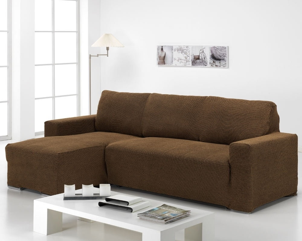 Best And Newest Short Armrest Chaise Elastic Sofa Cover Aquitania – Sofacoversjm.co (View 3 of 15)