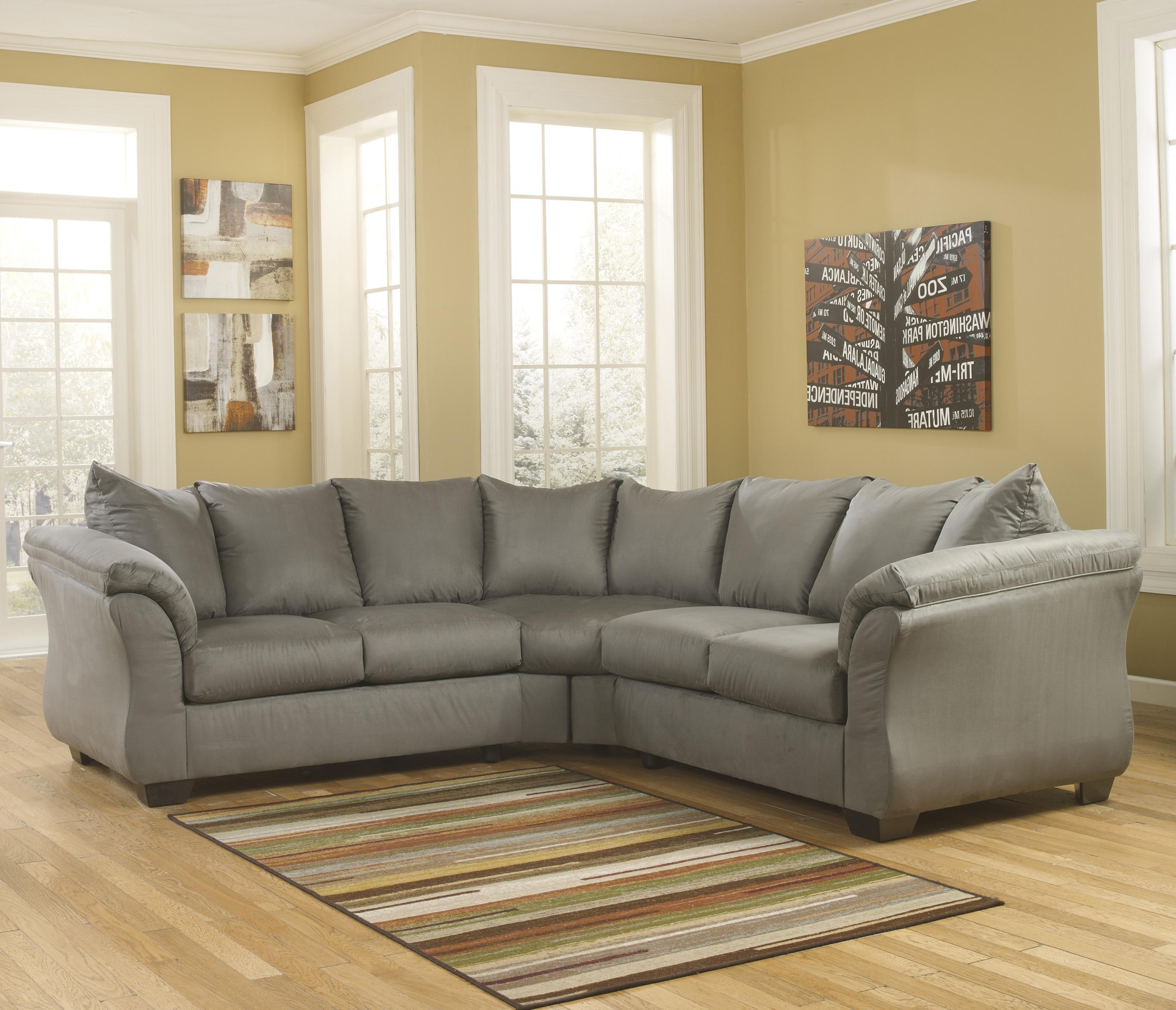 Best And Newest Signature Designashley Darcy – Cobblestone Contemporary Throughout 102X102 Sectional Sofas (View 5 of 15)