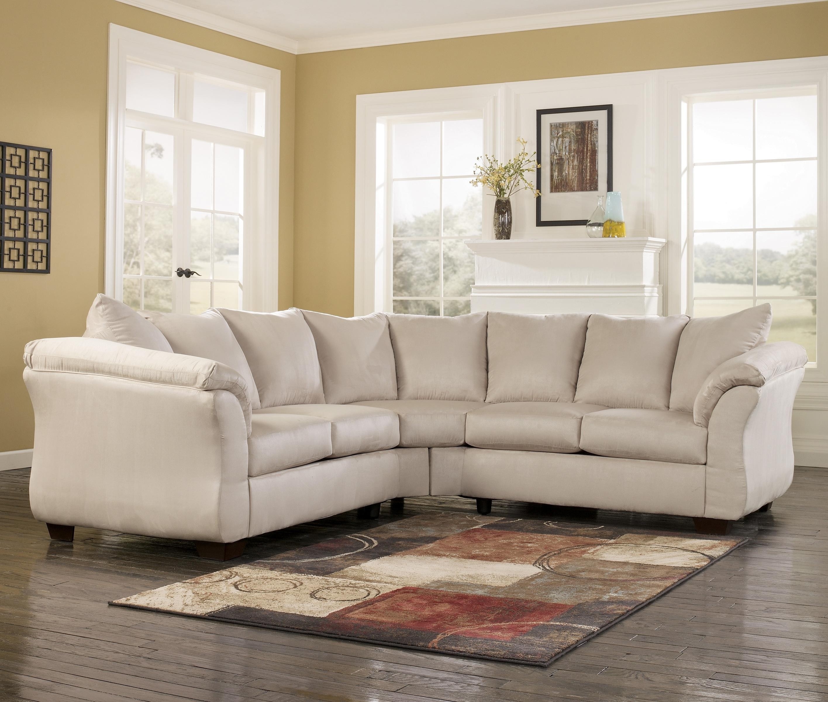 Best And Newest Signature Designashley Darcy – Stone Contemporary Sectional Inside 102X102 Sectional Sofas (View 9 of 15)
