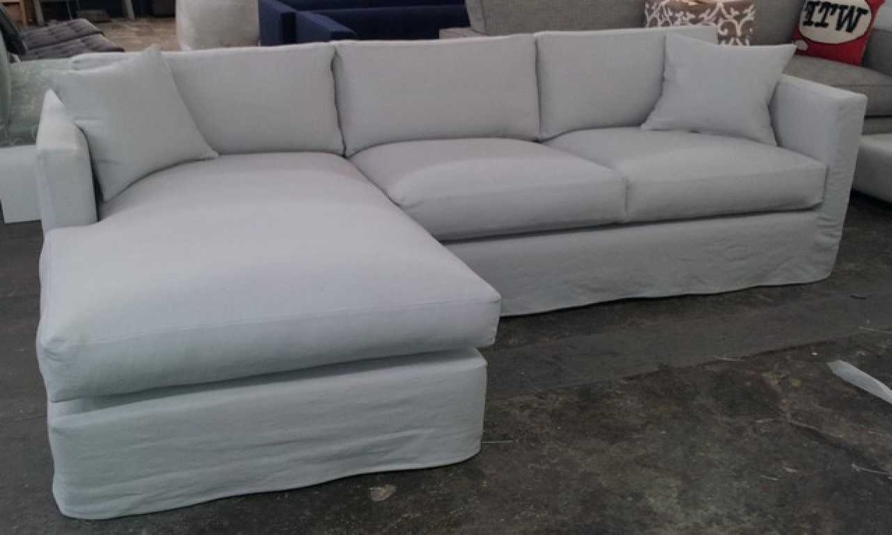 Best And Newest Slipcover Sectional Sofas With Chaise Throughout Enchanting Slipcover Sectional Sofa With Chaise Trends Also Sofas (View 1 of 15)