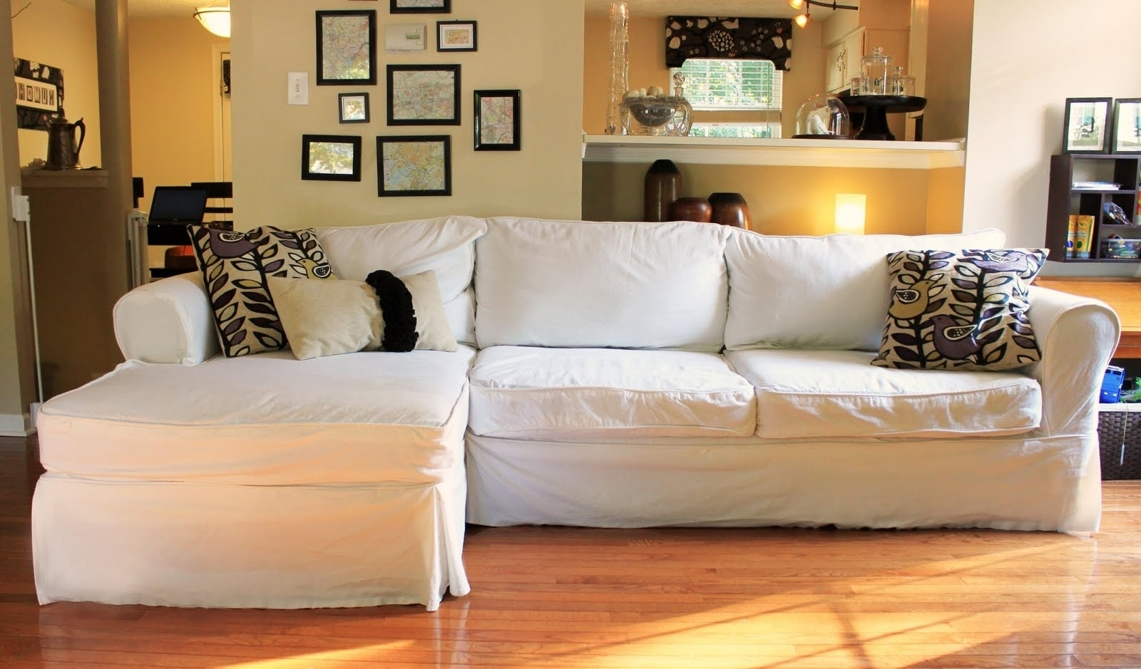 Best And Newest Slipcover Sectional Sofas With Chaise Within Uncategorized : Slipcover Sectional Sofa Within Imposing Beautiful (View 2 of 15)