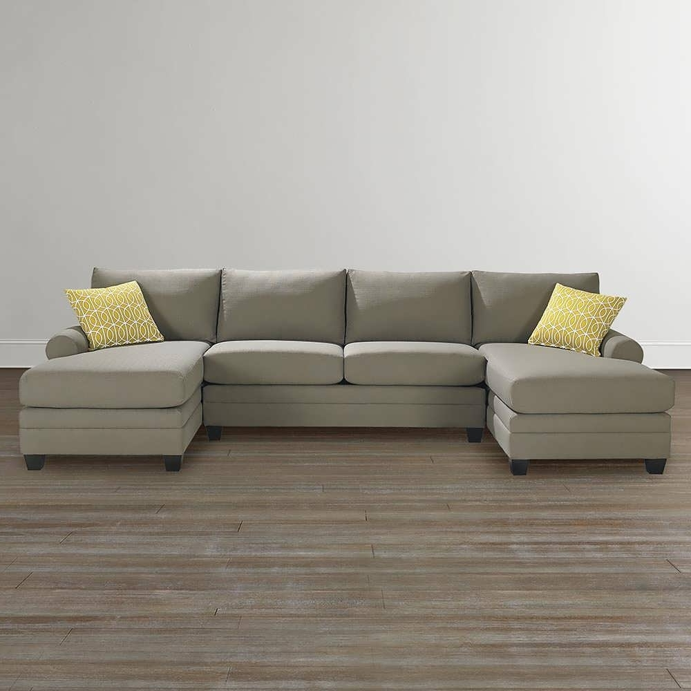 Best And Newest Sofa : Curved Sectional White Sectional Sofa Double Chaise With Double Chaises (View 2 of 15)